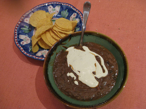 Read more about the article Lime Theme Continues: Black Bean Soup w/ Jalapeño Lime Creme