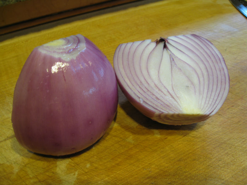 Our home grown red onion
