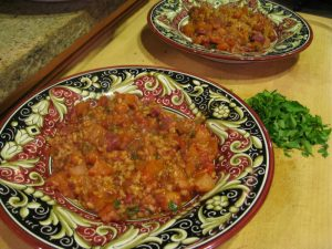 Savory Jambalaya with garden grown root veggies