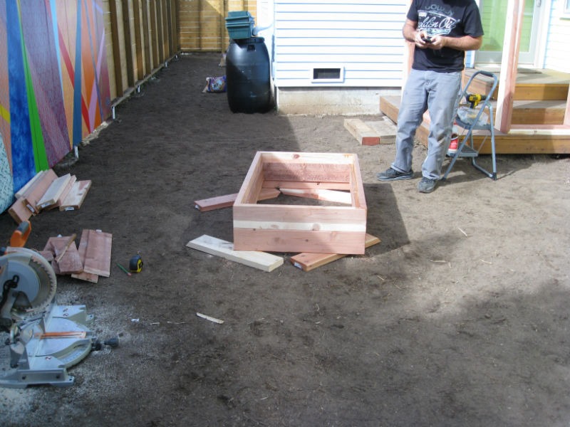 Our craftsman, Josh, built beautifully mitered beds for the homeowner