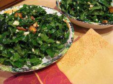 Kale Salad ready for scarfing.
