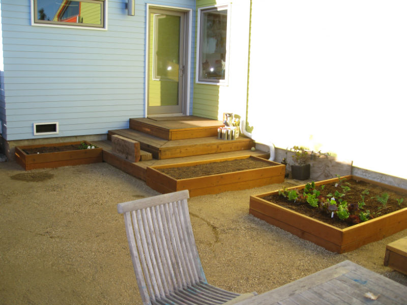 Completed garden with cool season crops planted. We left room for warm season crops, which will be planted next month.