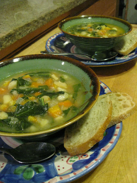 You are currently viewing Recipe: Root Veggie Chowder with Collard Ribbons