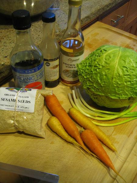 Cabbage Salad Ingredients