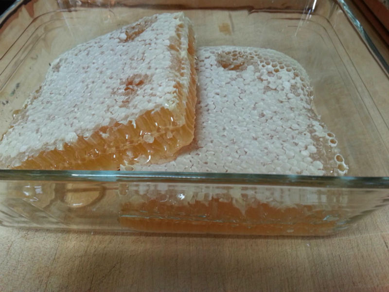 Honeycomb has 2 sides. You can see the center line running through the middle horizontally.