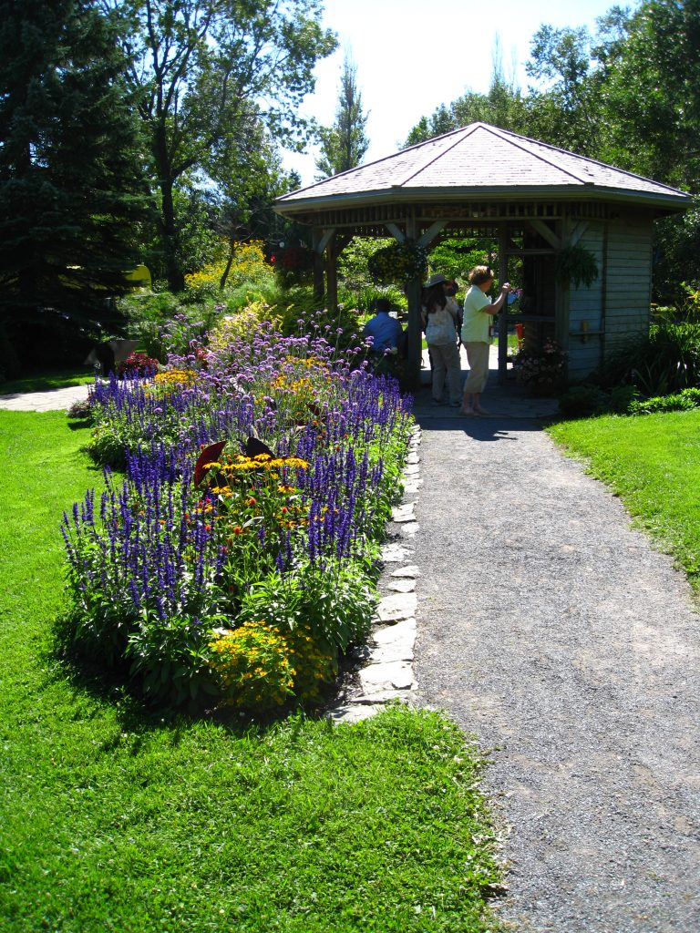 The Botanical Garden entrance greets you with color.