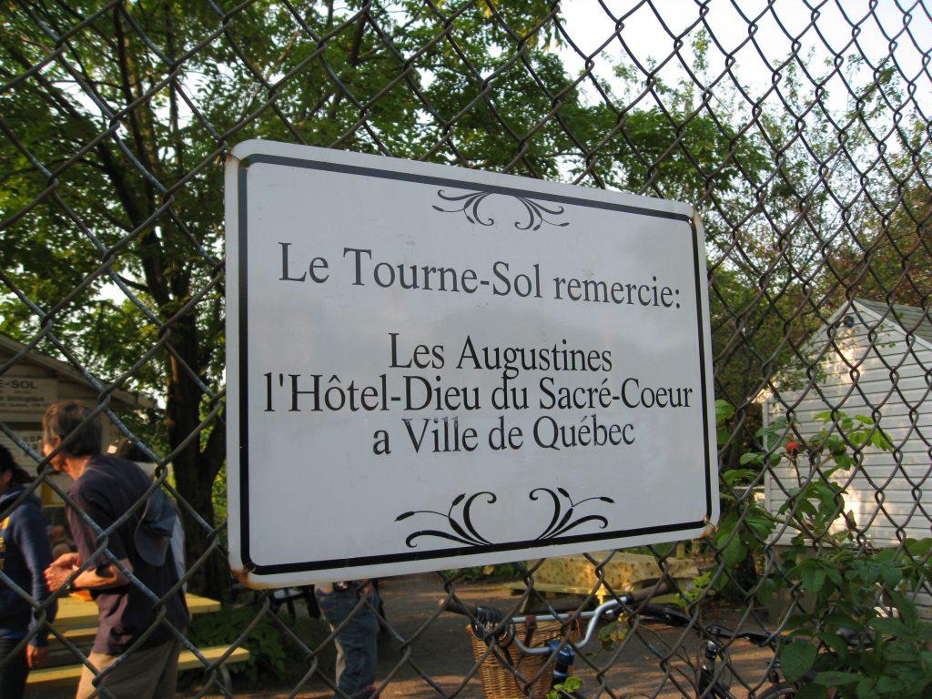 Le Tourne-Sol community garden
