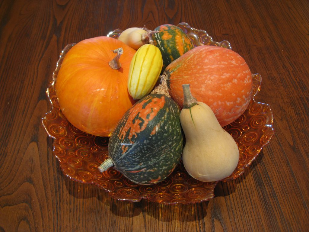Small squash makes a great centerpiece