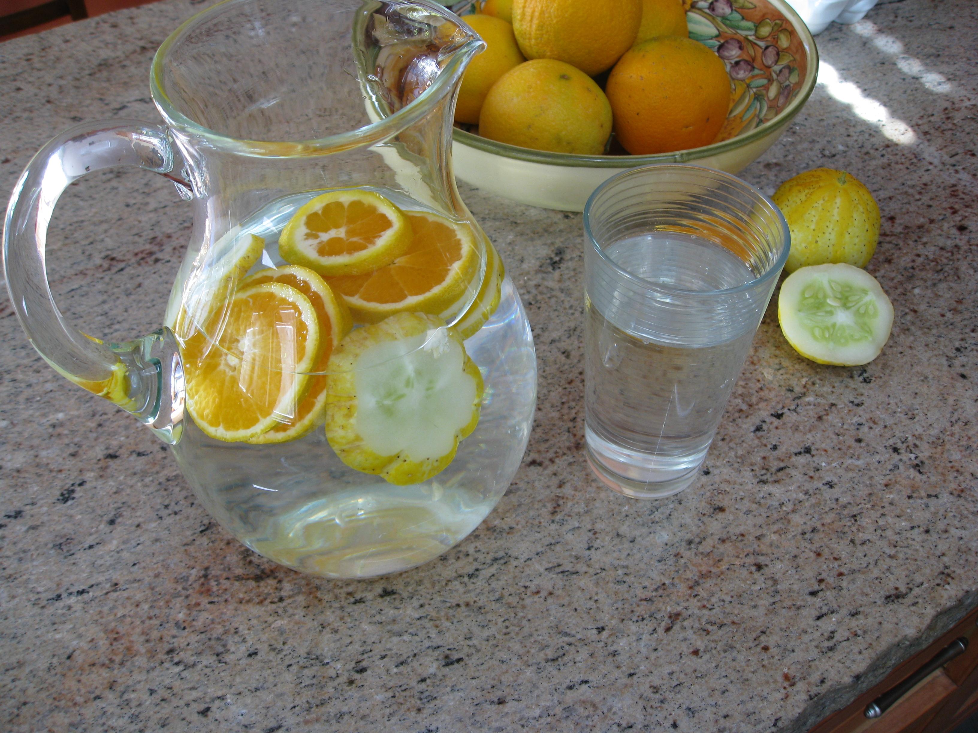 cucumber citrus water
