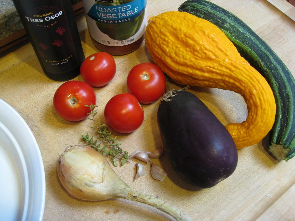 Ratatoulle ingredients
