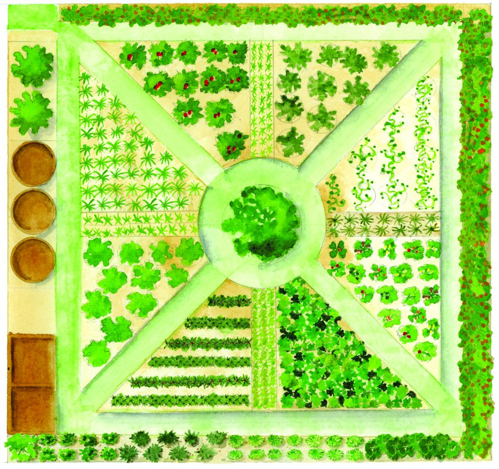 This Slow Food Garden celebrates the local food movement.