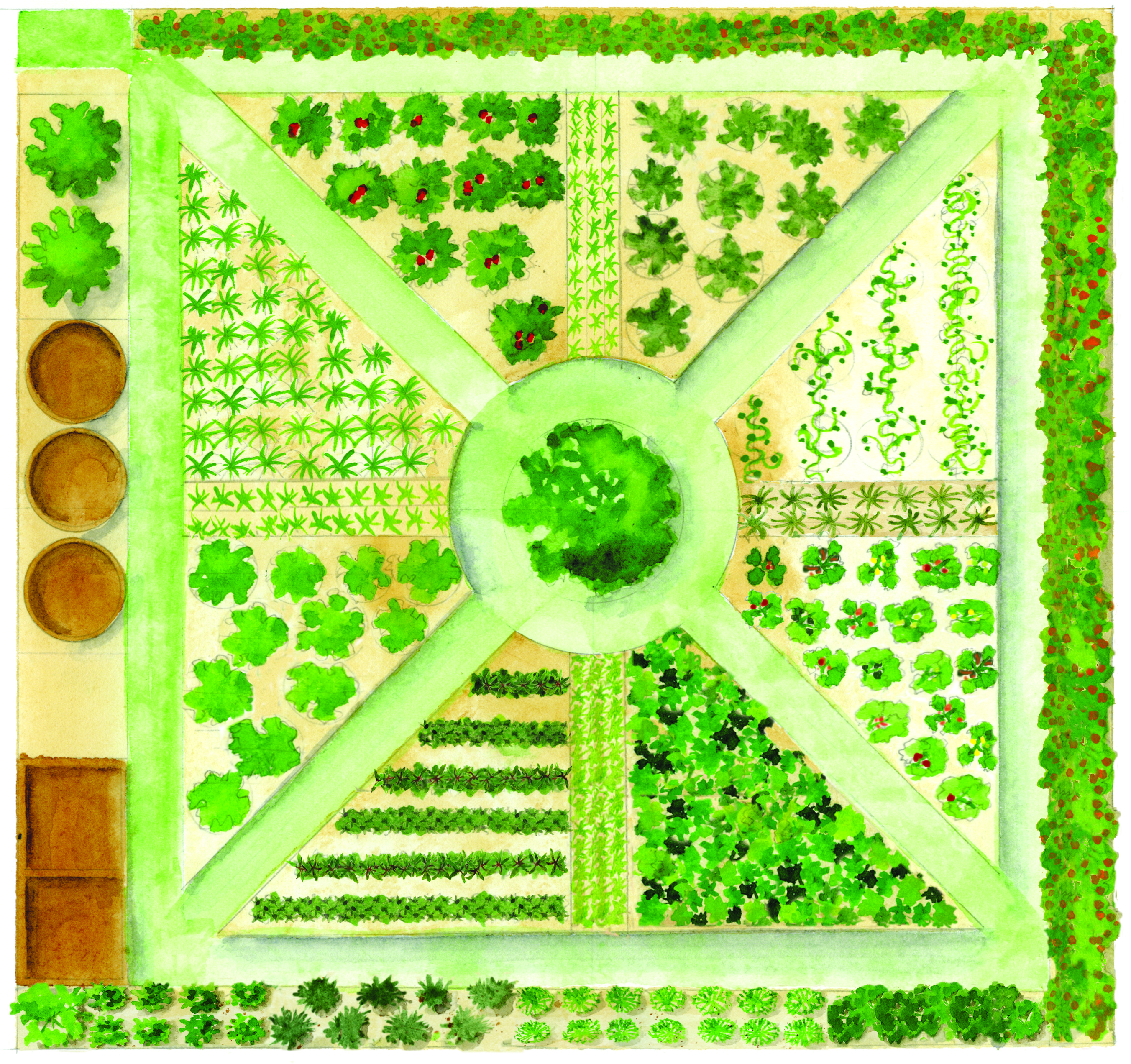 this slow food garden celebrates the local food movement