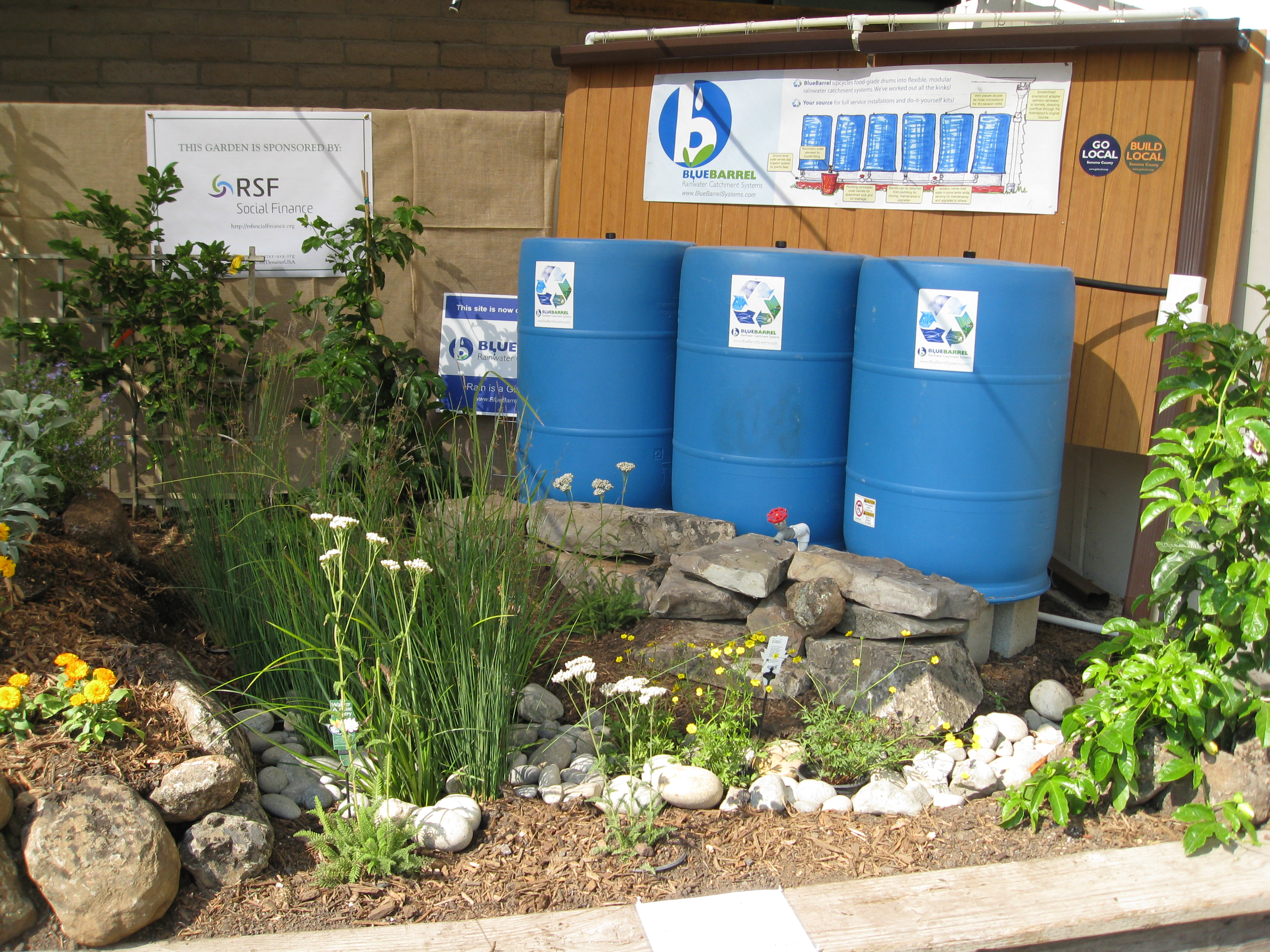 Water catchment was a hot topic, given the CA drought.