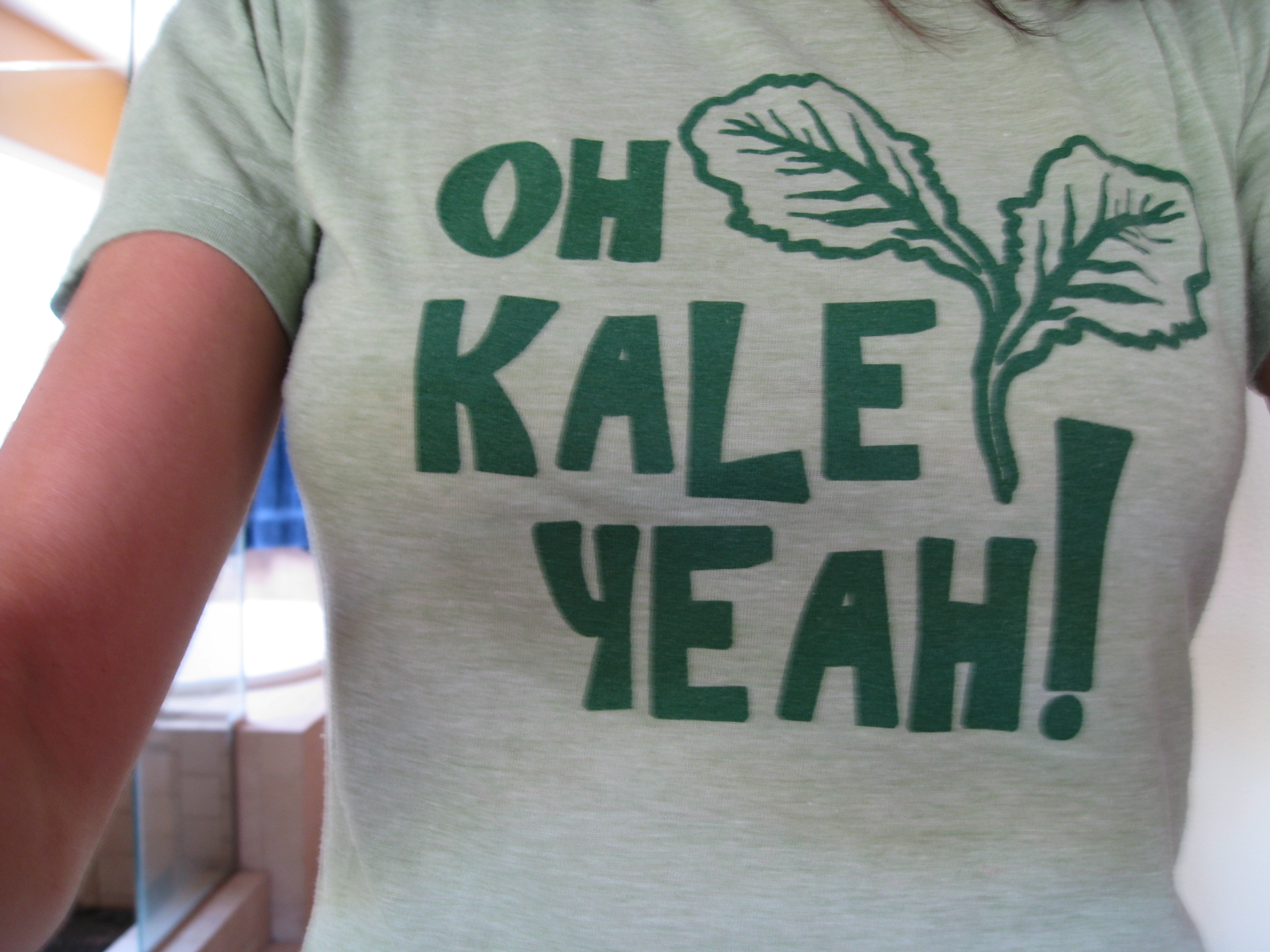 Kale t-shirt: a must have for kale lovers.