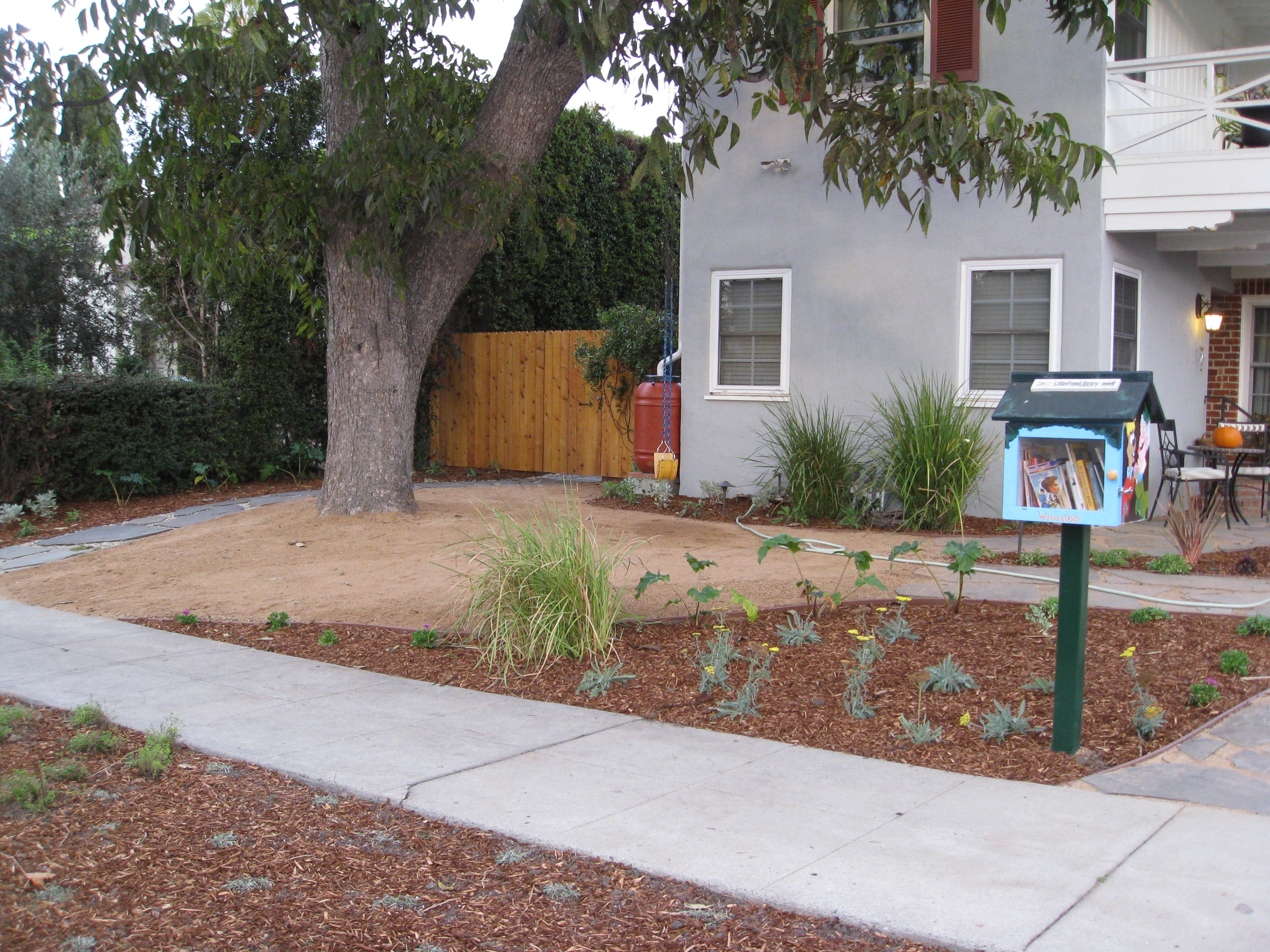 A Little Free Library welcomes guests.