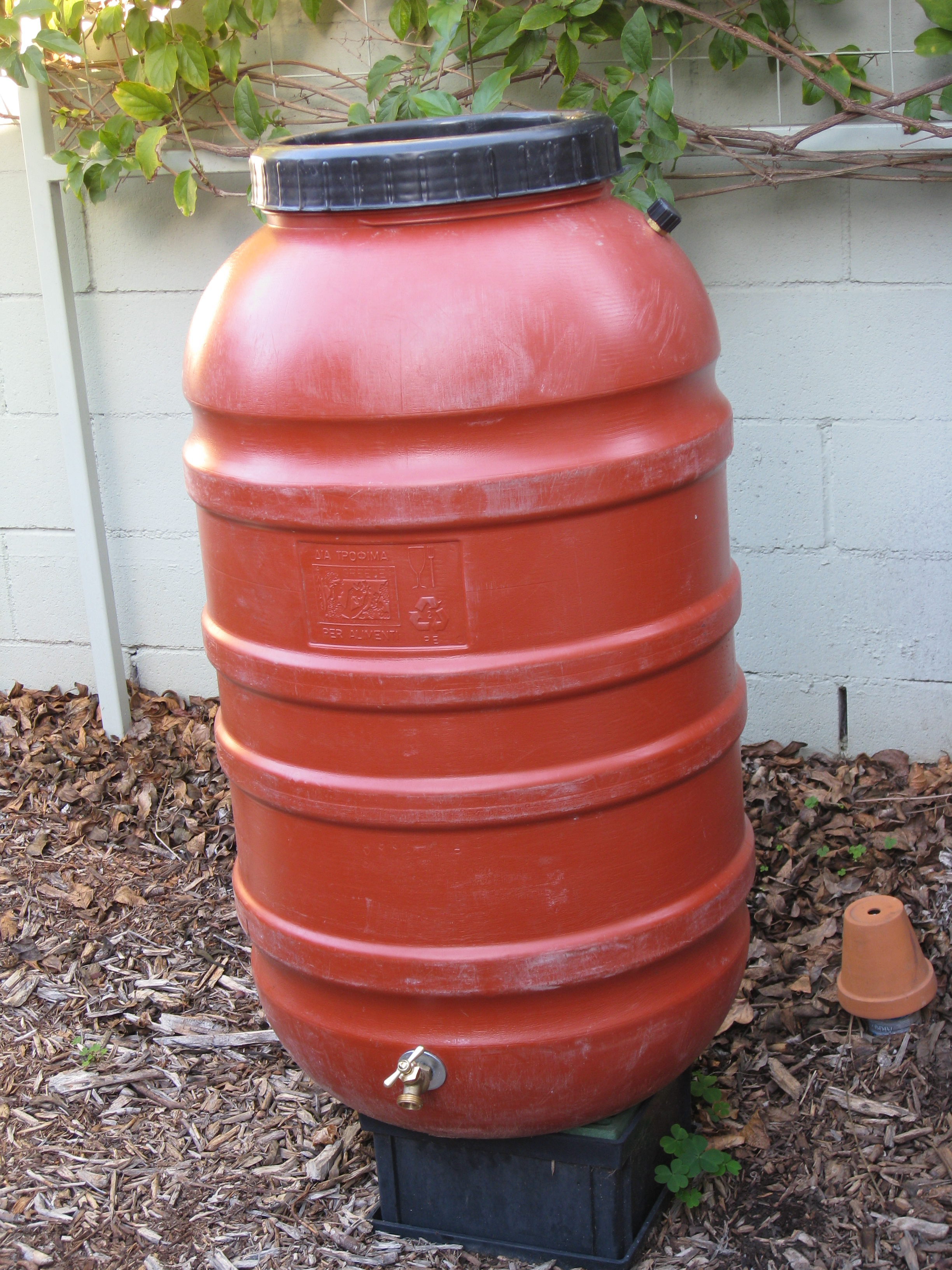 Be sure to elevate your rain barrel to take advantage of gravity.