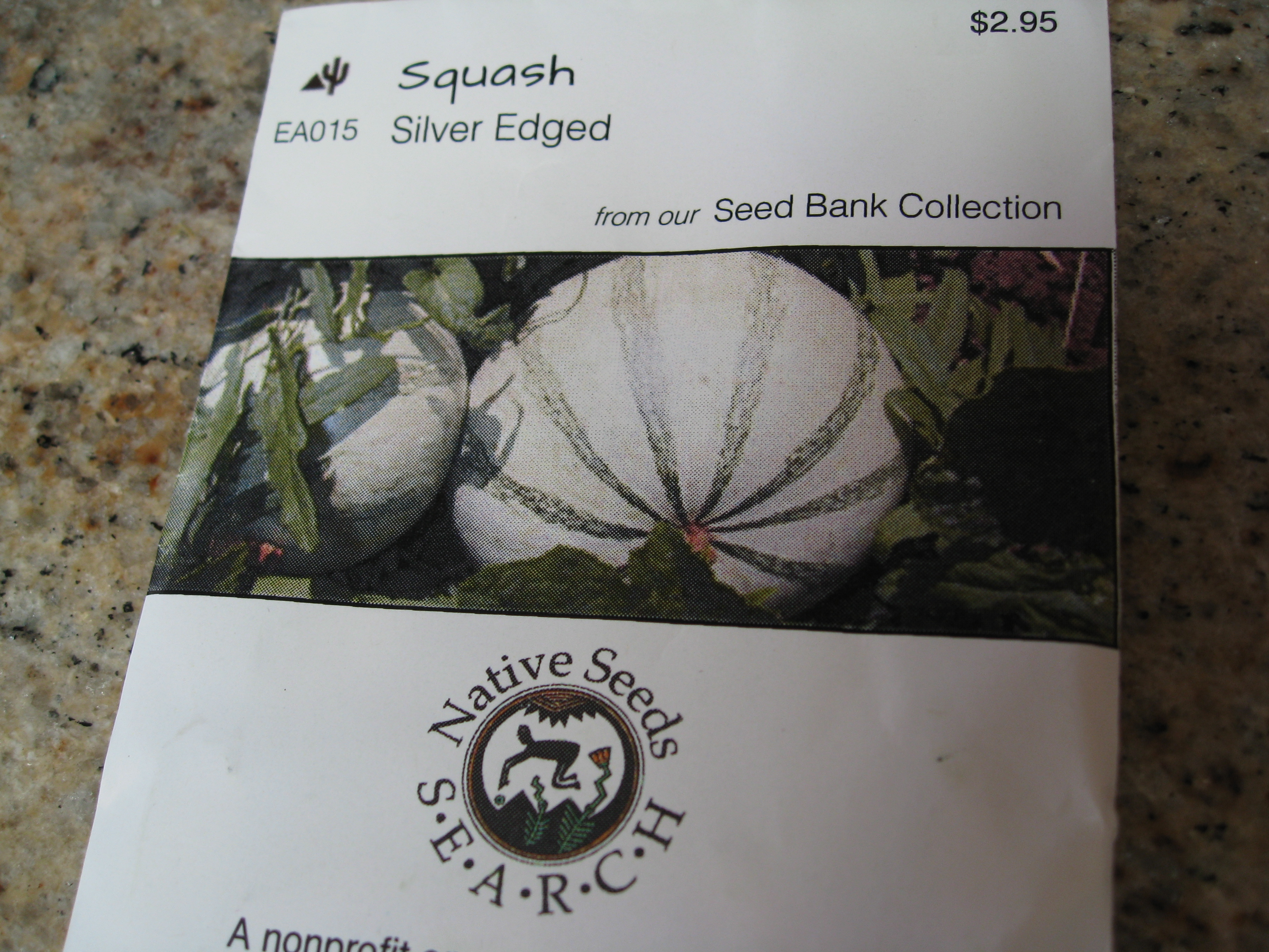 The squash flesh is unpalatable but it is grown for the tasty and beautiful seeds.