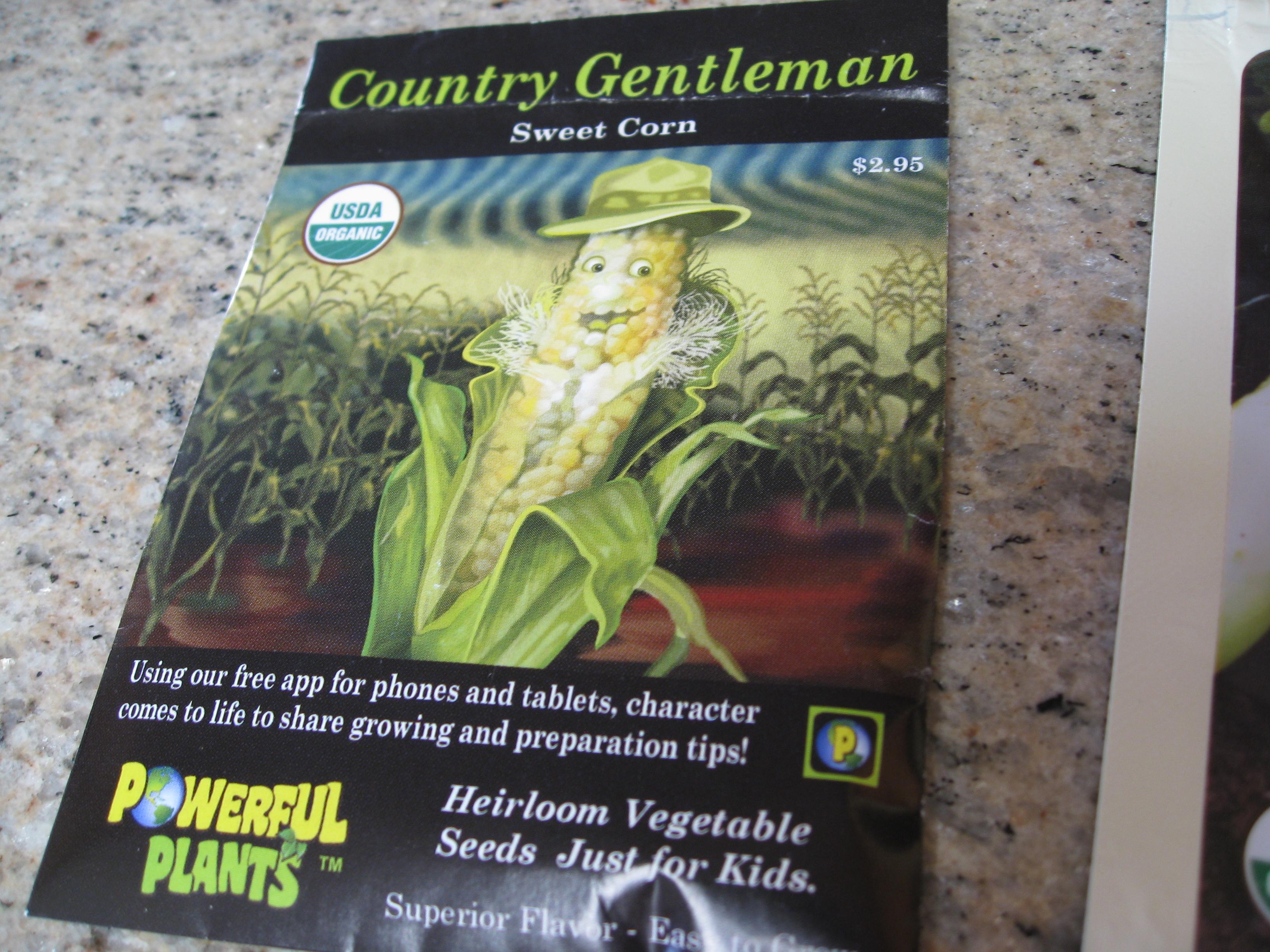 A tried and true heirloom sweet corn seed.