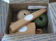Prettily wrapped packages would rouse any gardener, eager to unwrap these gifts.