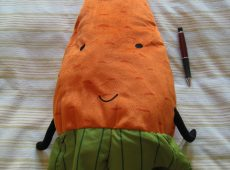 The original carrot plush toy