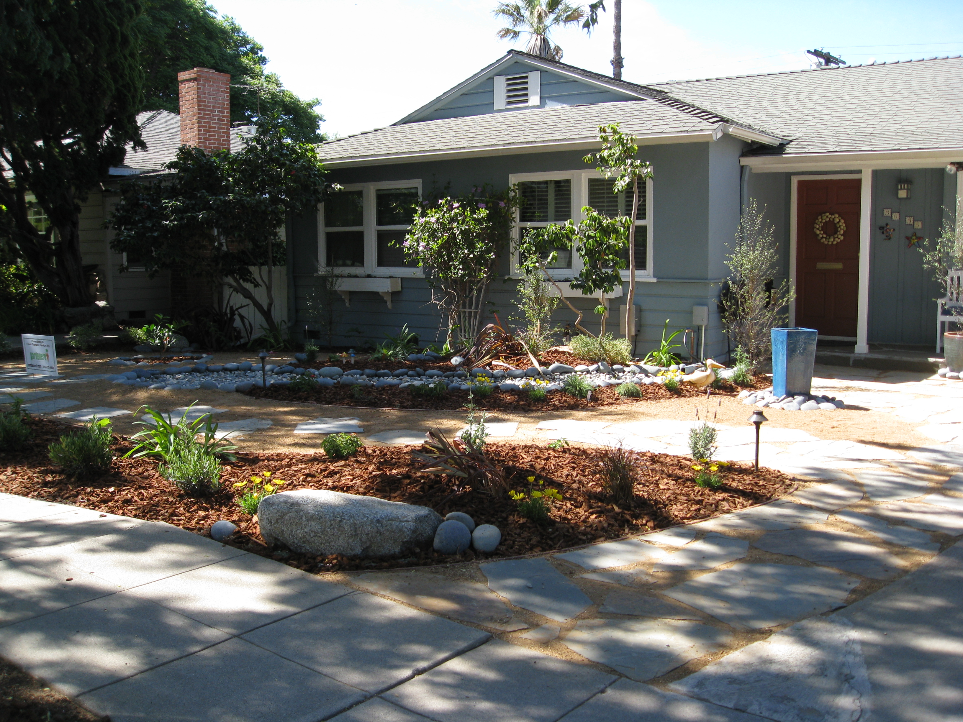 The final product is a curvaceous permeable landscape that educate the neighborhood about water catchment.