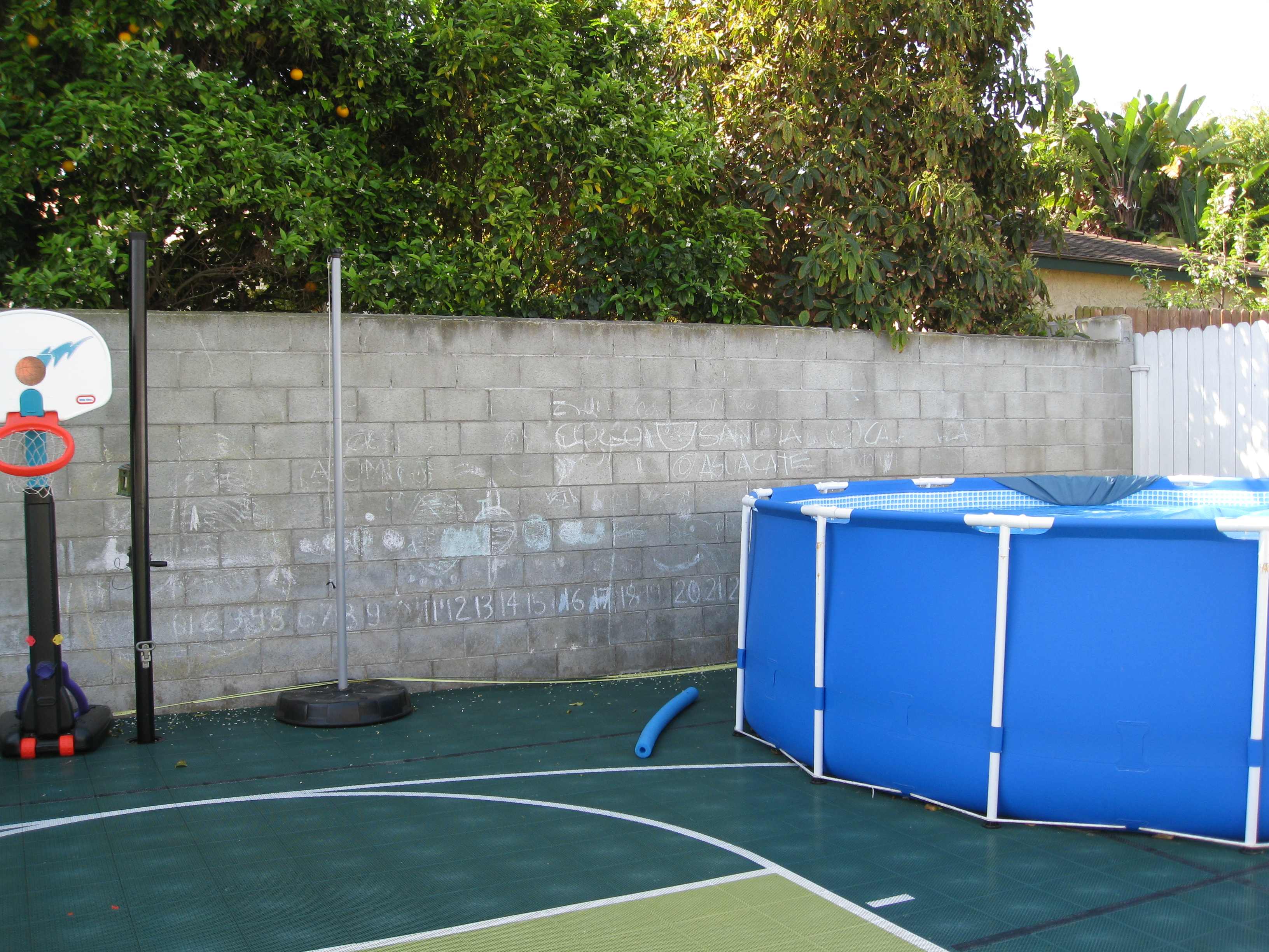 Active family backyard is dedicated to play.