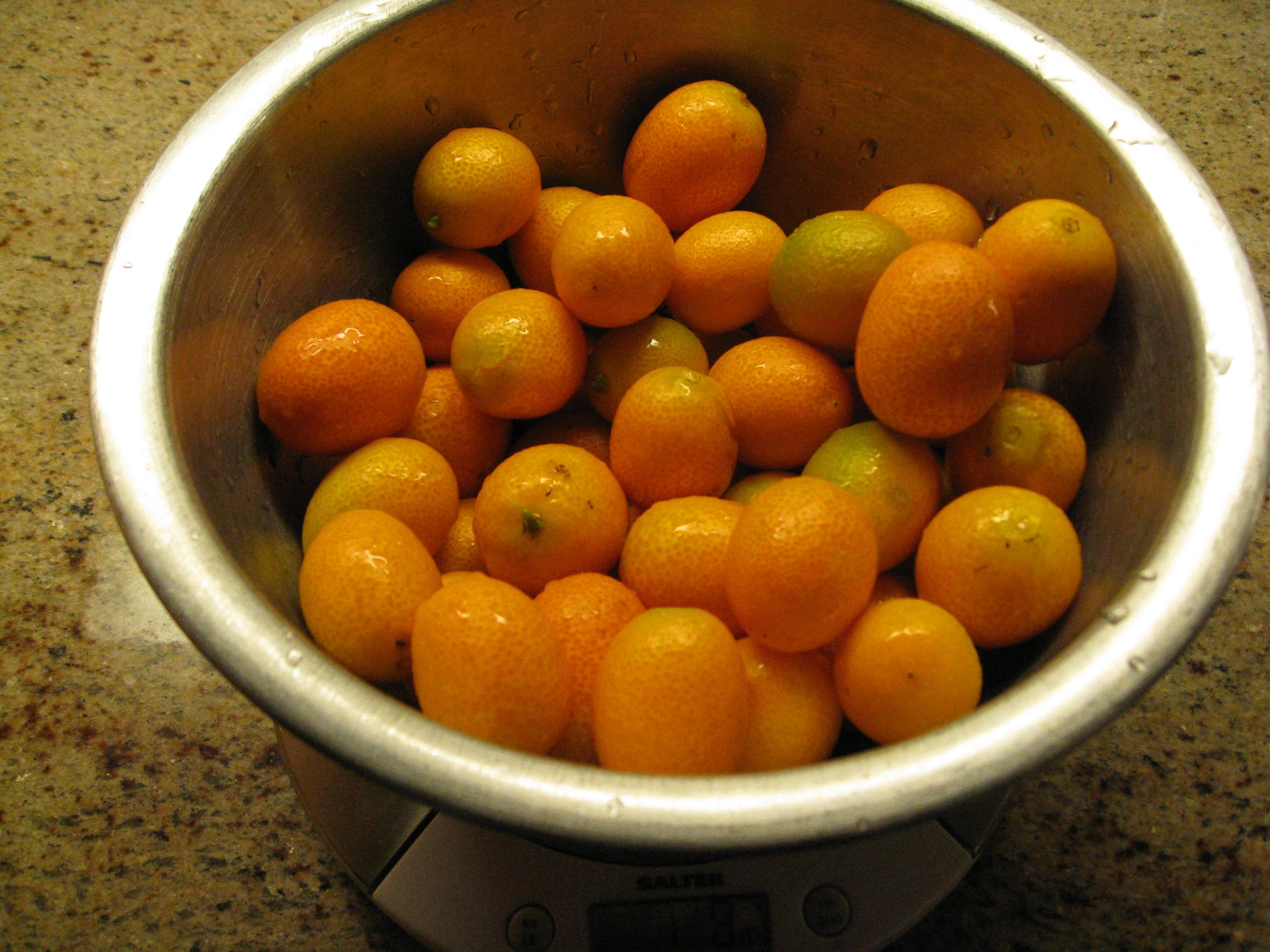 Kumquats have a sweet skin but sour/bitter flesh