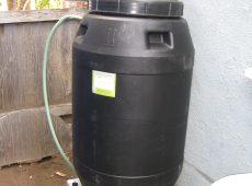 Food grade barrels are best for use in vegetable gardens.