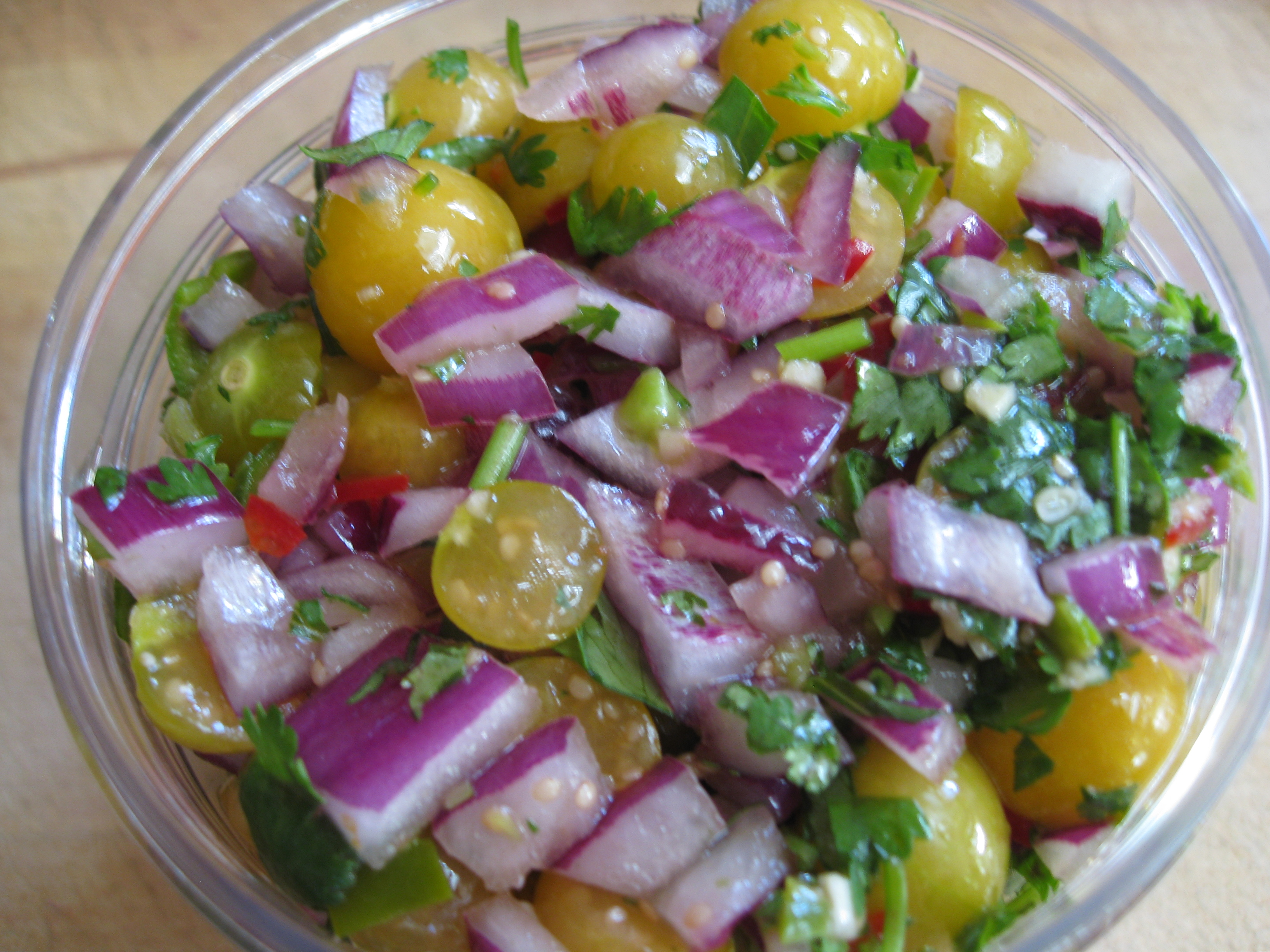 Beautiful colors and tropical flavors greet you with this salsa.