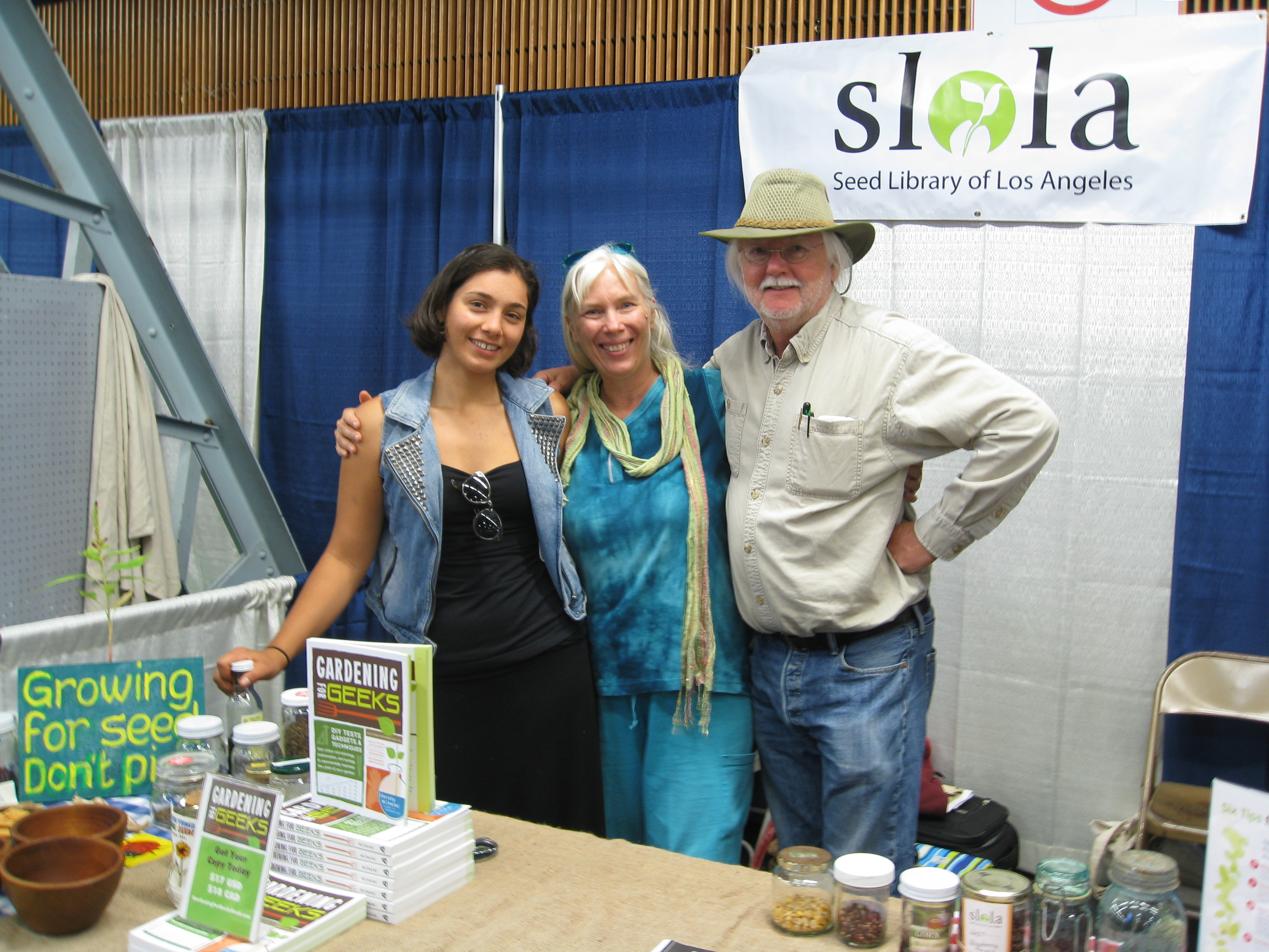 Friends at the SLOLA booth: HQ for Gardenerd this week.