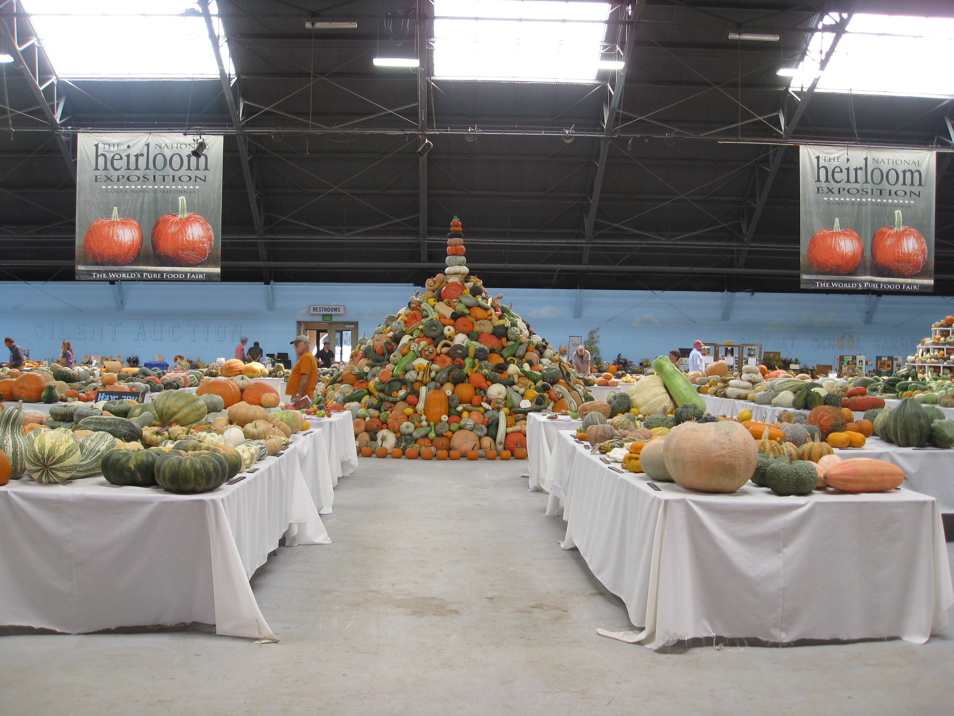 Hall of Flowers at the Heirloom Expo