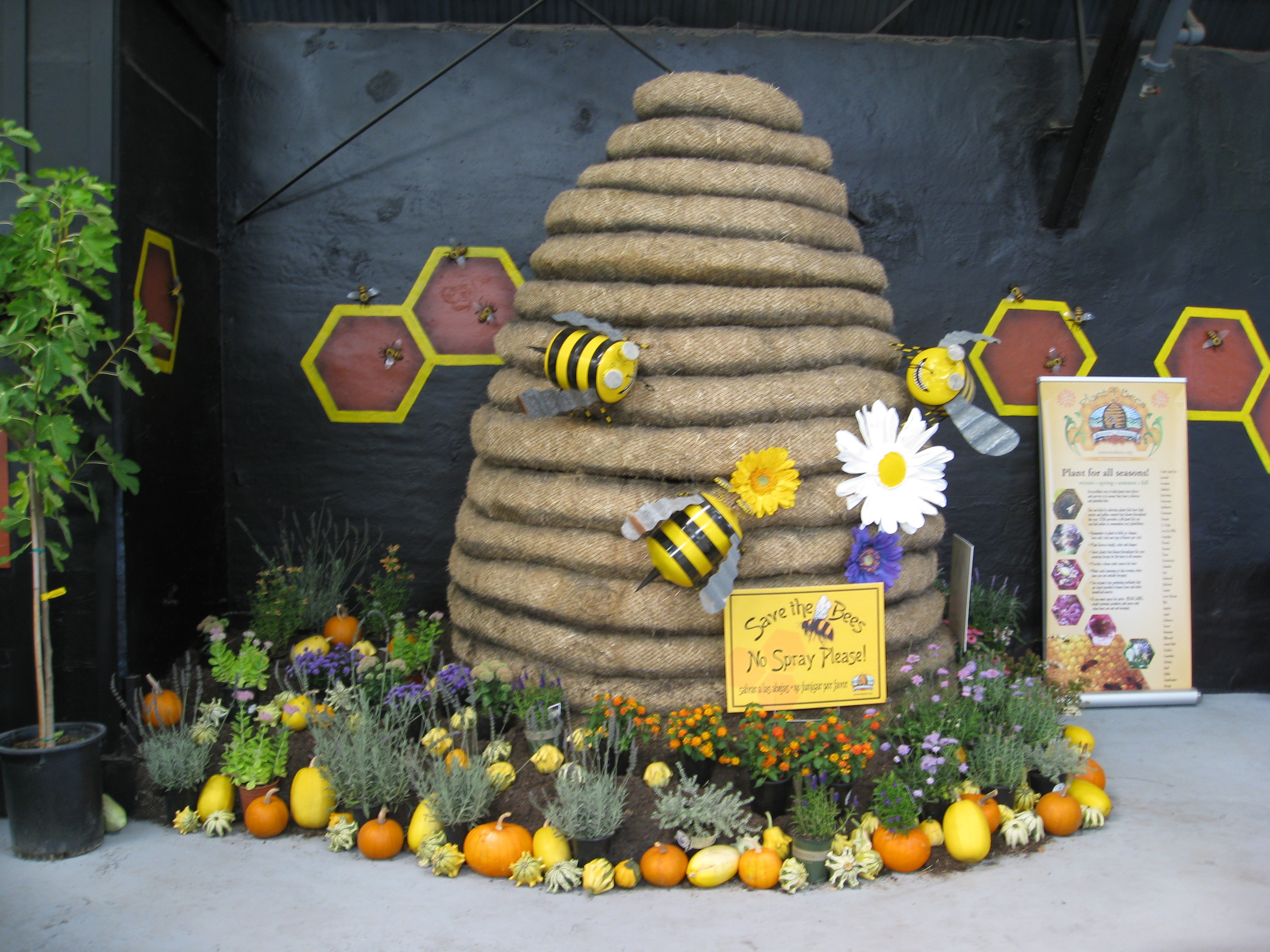 Save the bees! No sprays, please.