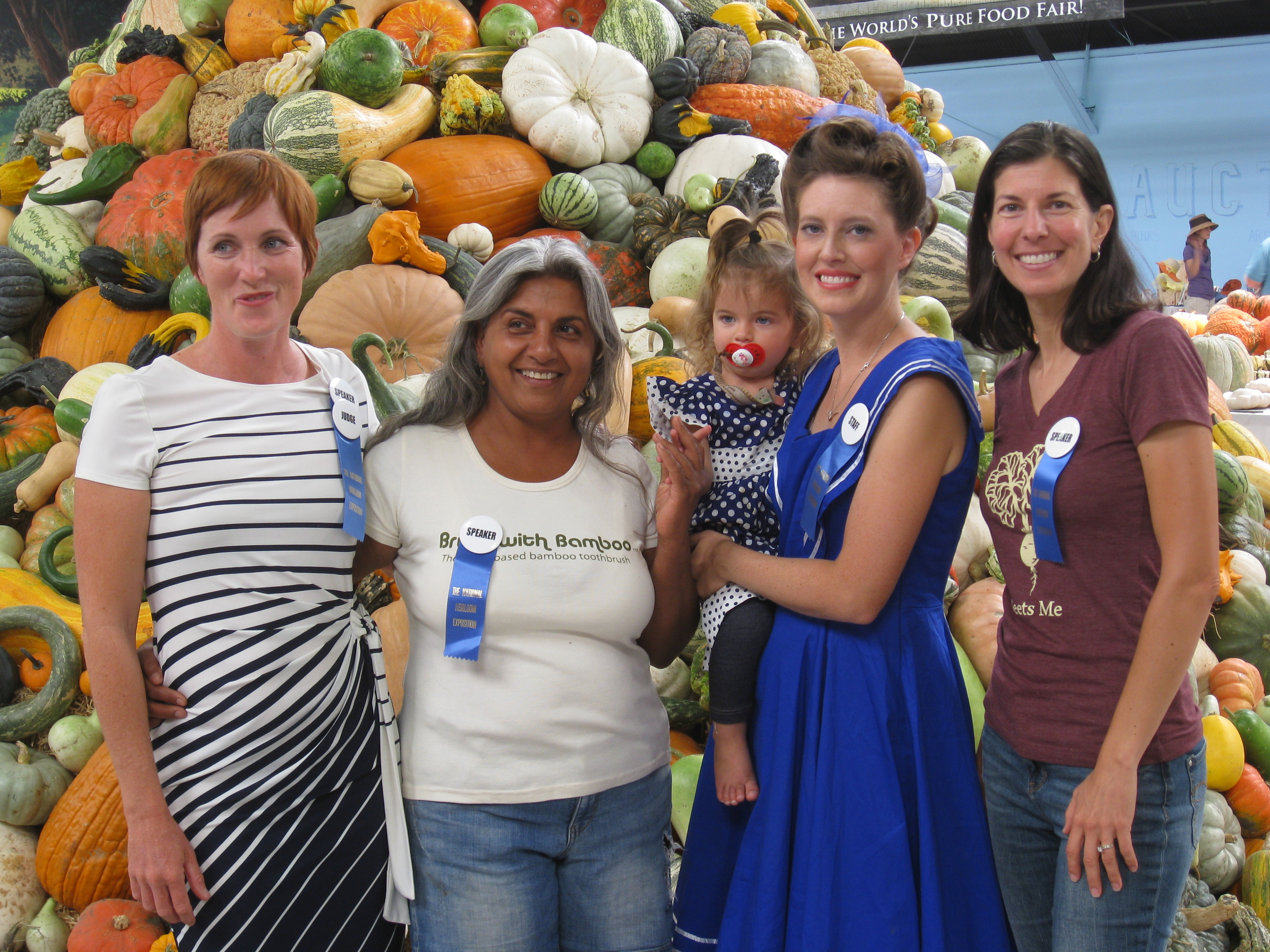 From left: Anna Peach of Squash and Awe Farm in Hawaii, Pearl from The Growing Home, Emile Gettle from Baker Creek Heirloom Seeds & yours truly.
