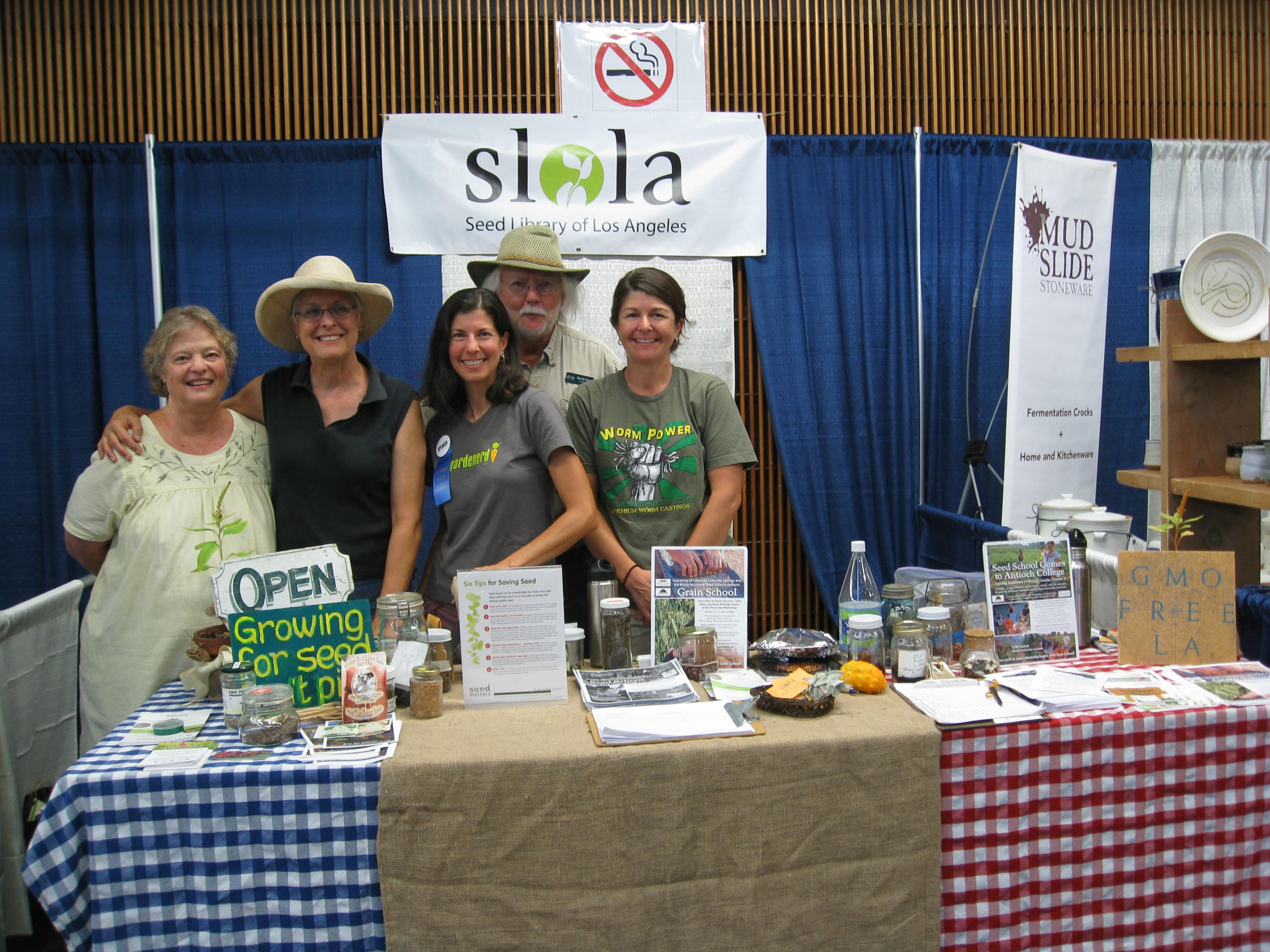 The LA Contingent: Yvonne Savio, Dana Morgan, Me, David King and Laura Maher of the Camarillo Seed Library.