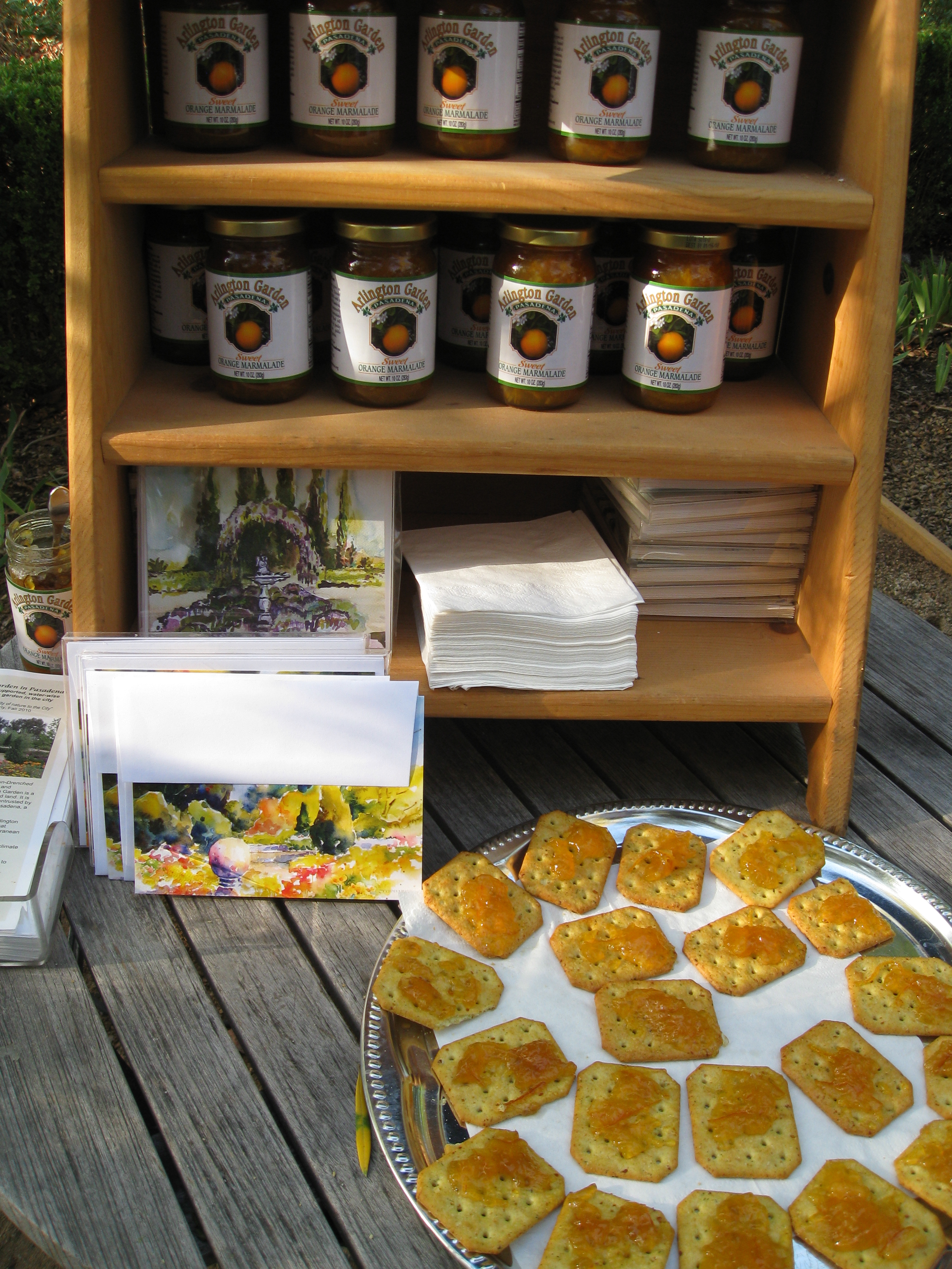 Famous for its marmalade, Arlington Gardens showcases treats from its orchards.