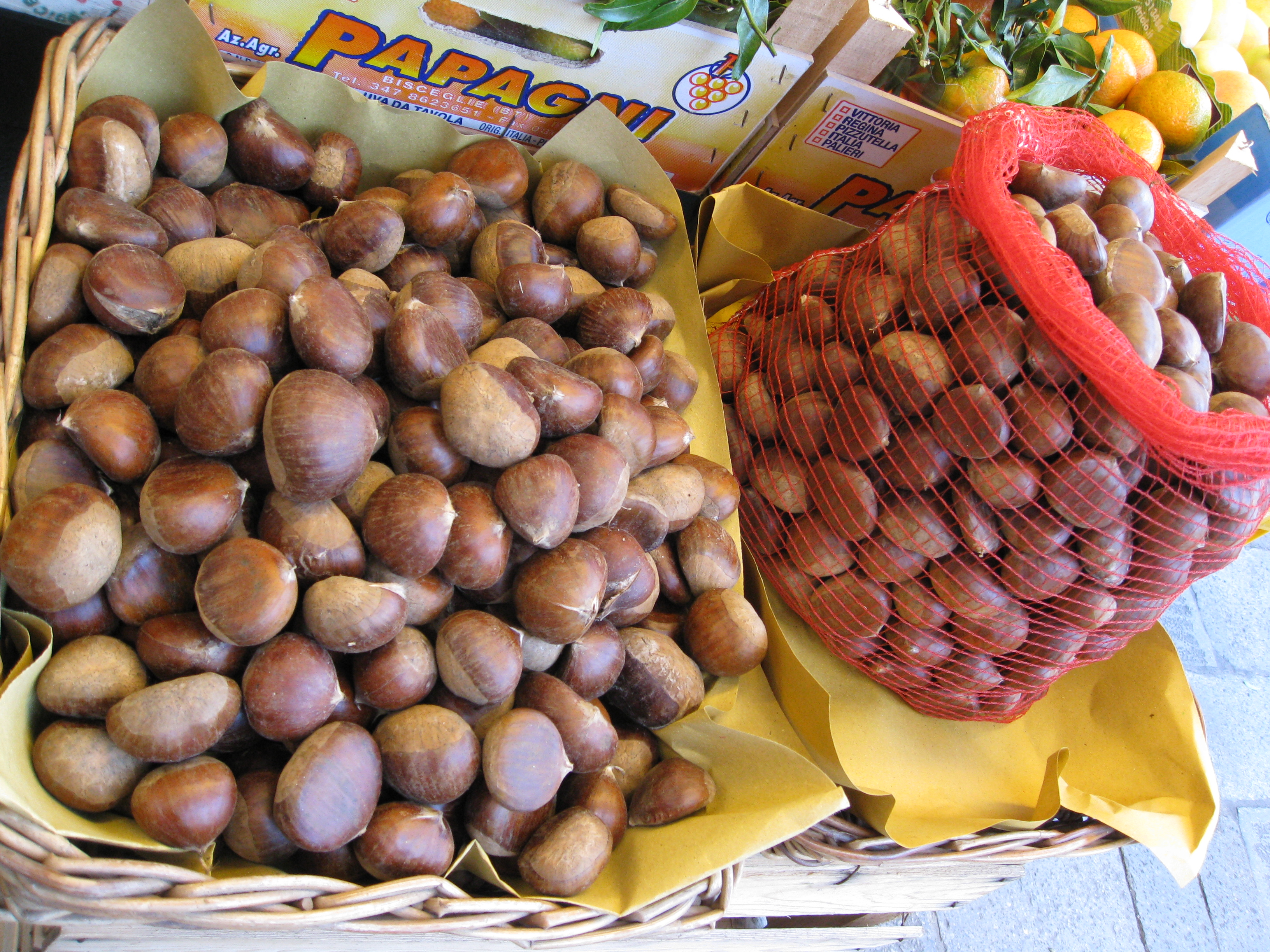 Chestnuts are a big tradition in Europe in fall. Street vendors roast them in makeshift stoves (usually made from trash can lids).
