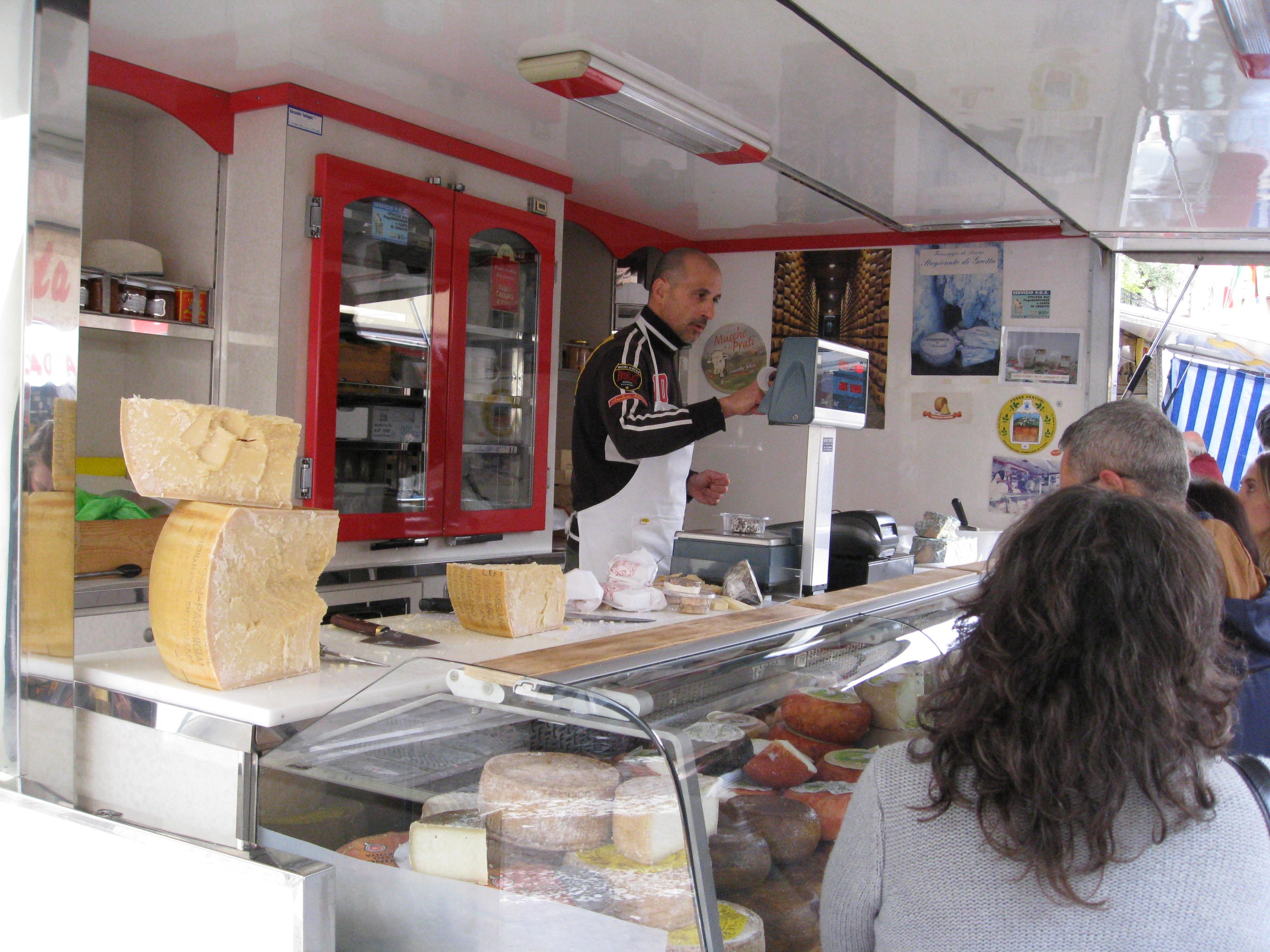 A beautiful cheese truck in Greve in Chianti.