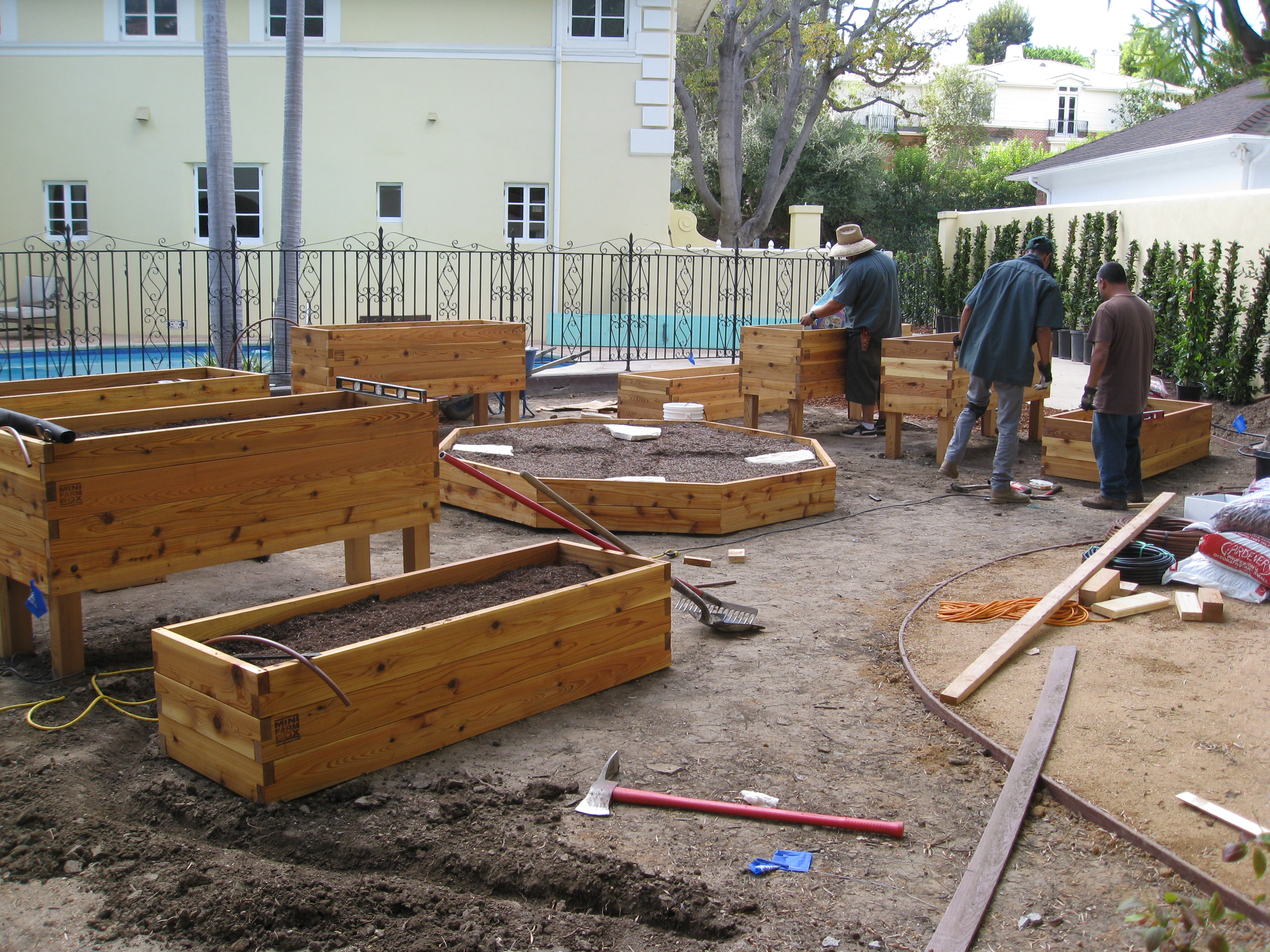 """Each resident has their own garden bed with a center community bed we call the """"octagon."""""""