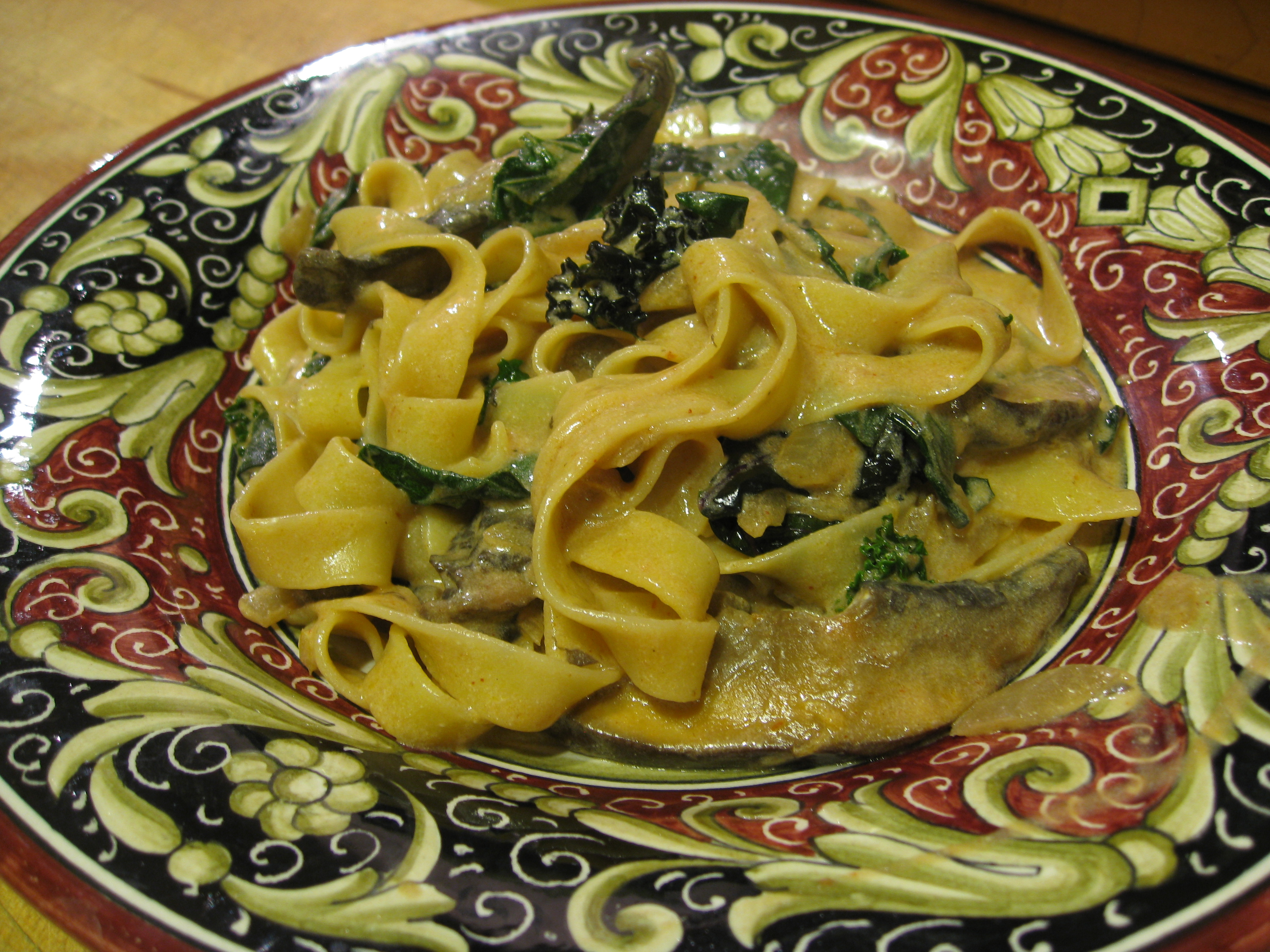 Recipe: Portobello Mushroom and Kale Stroganoff