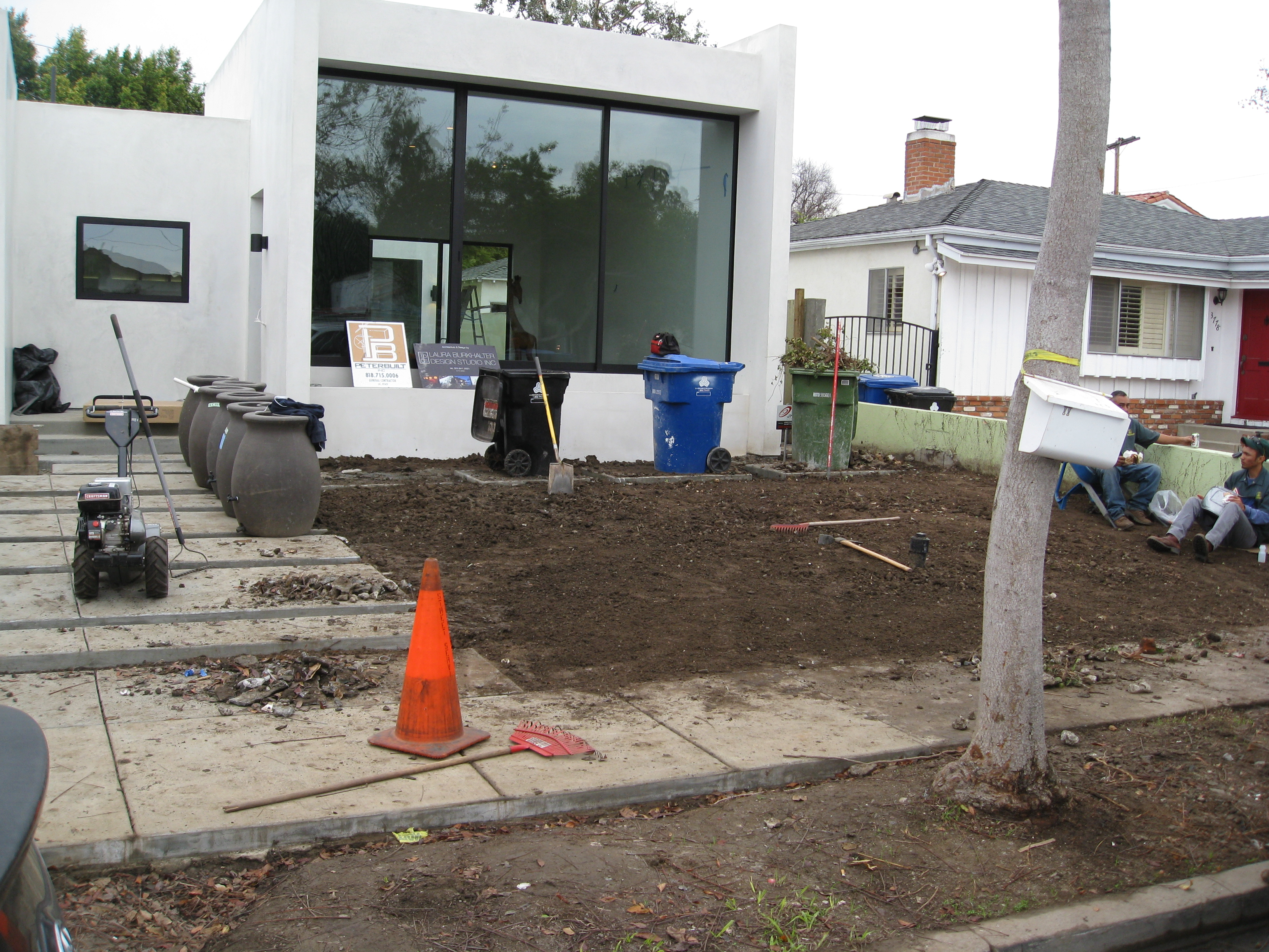 New construction is almost ready for landscaping.