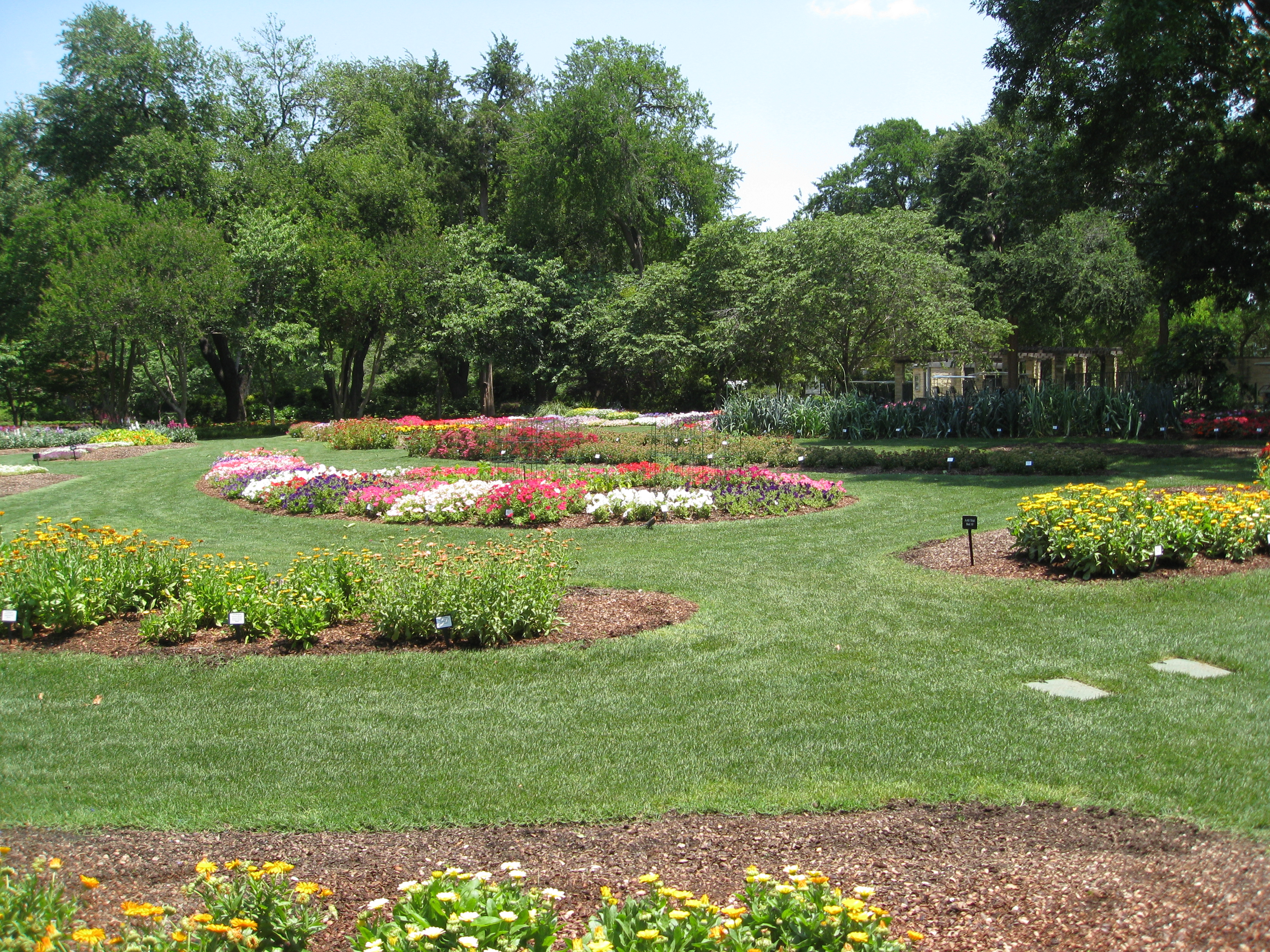 One of two All American Selections trial gardens on the property.