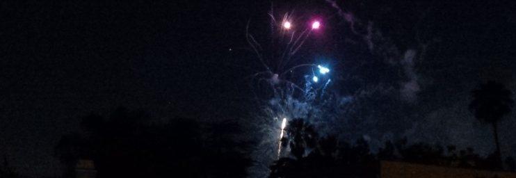 Fireworks over Los Angeles