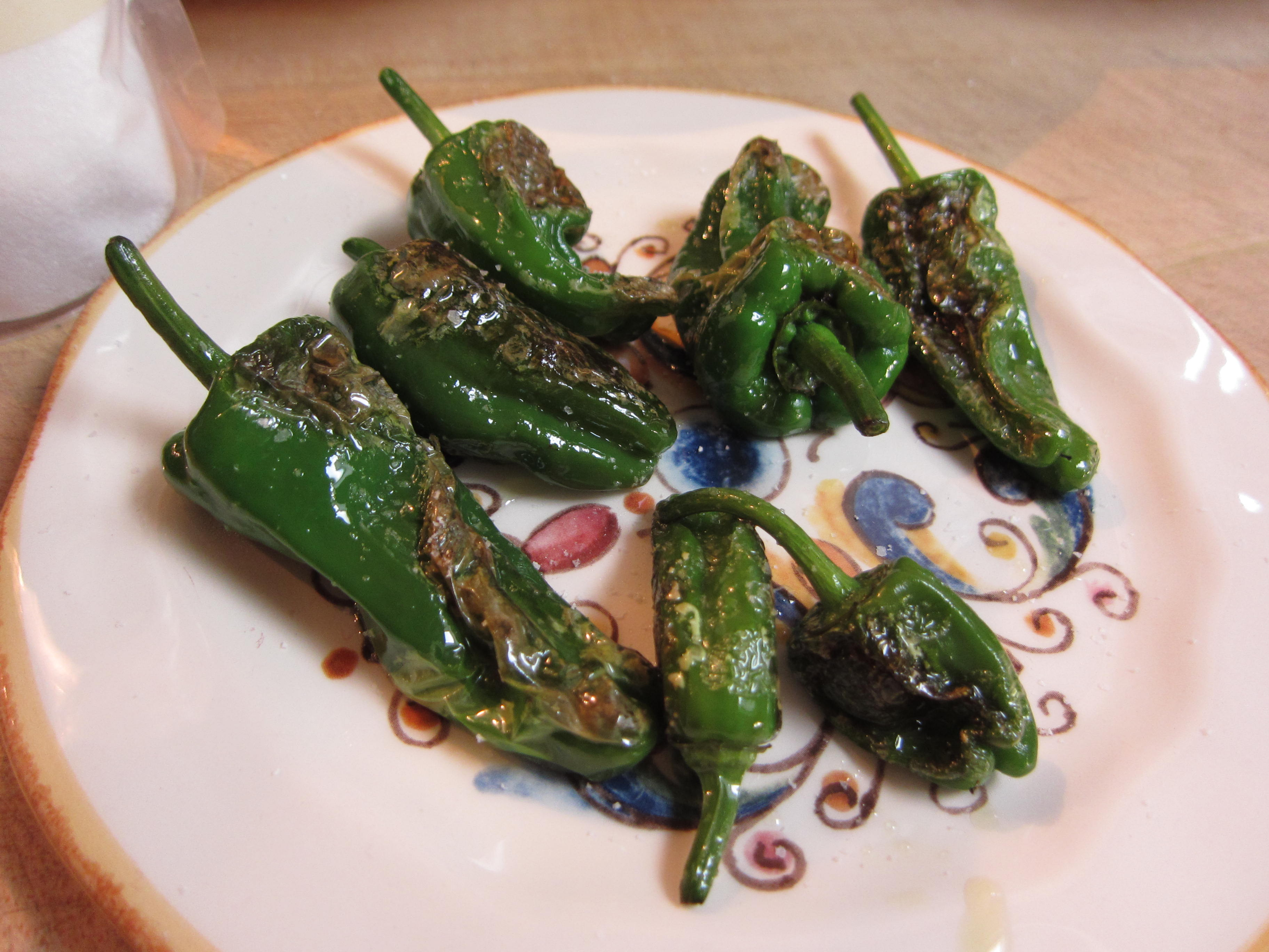 Blistered padrón peppers are easy and quick to make.