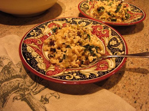 Read more about the article Recipe: Tuscan Kale Risotto with Mushrooms and Rosemary