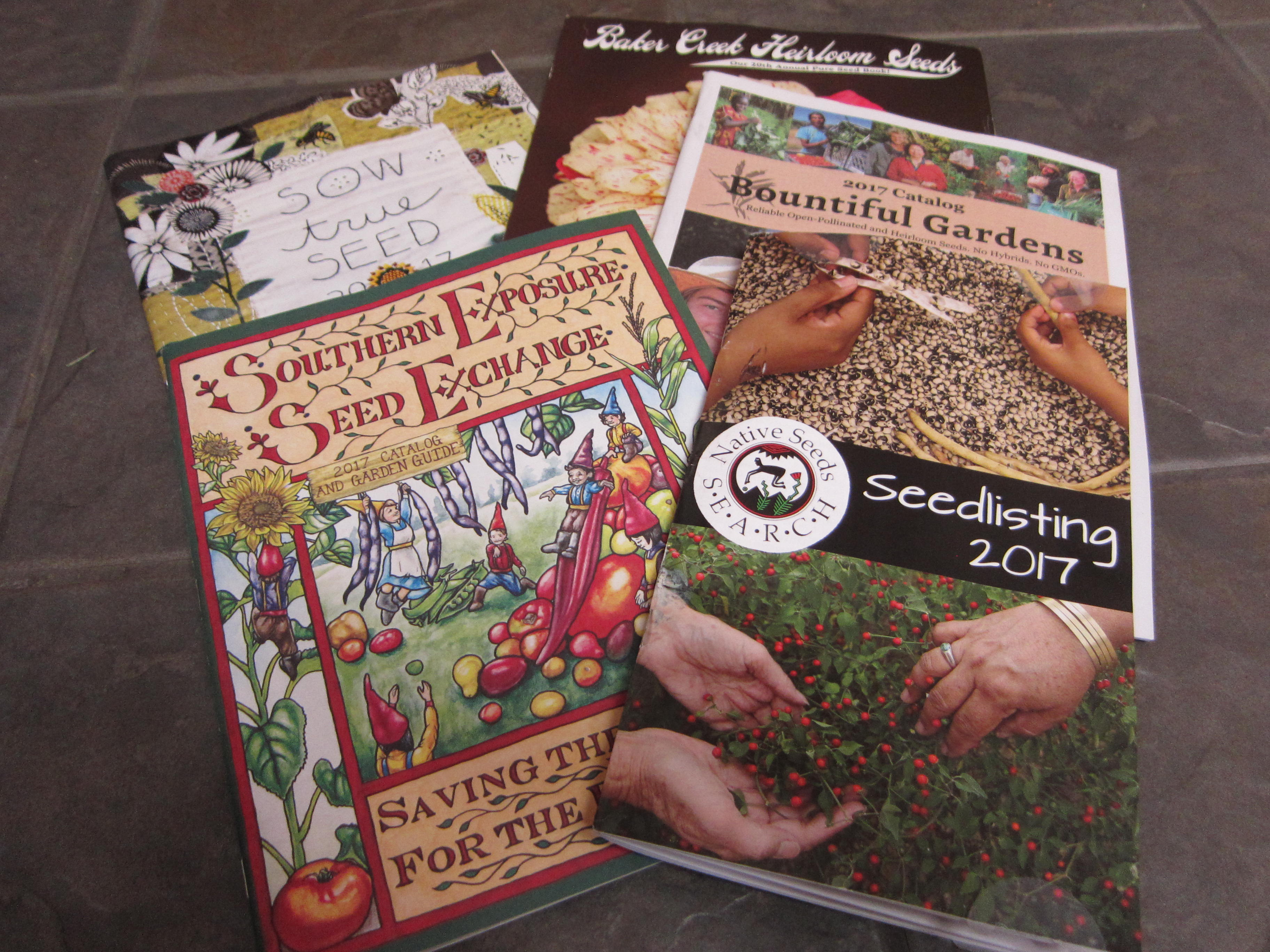 Some of our favorite seed catalogs have already arrived.