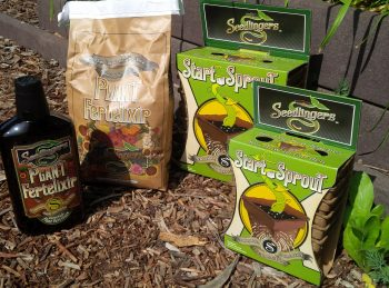 Seedlingers makes biodegradable pots and all-natural fertilizers.