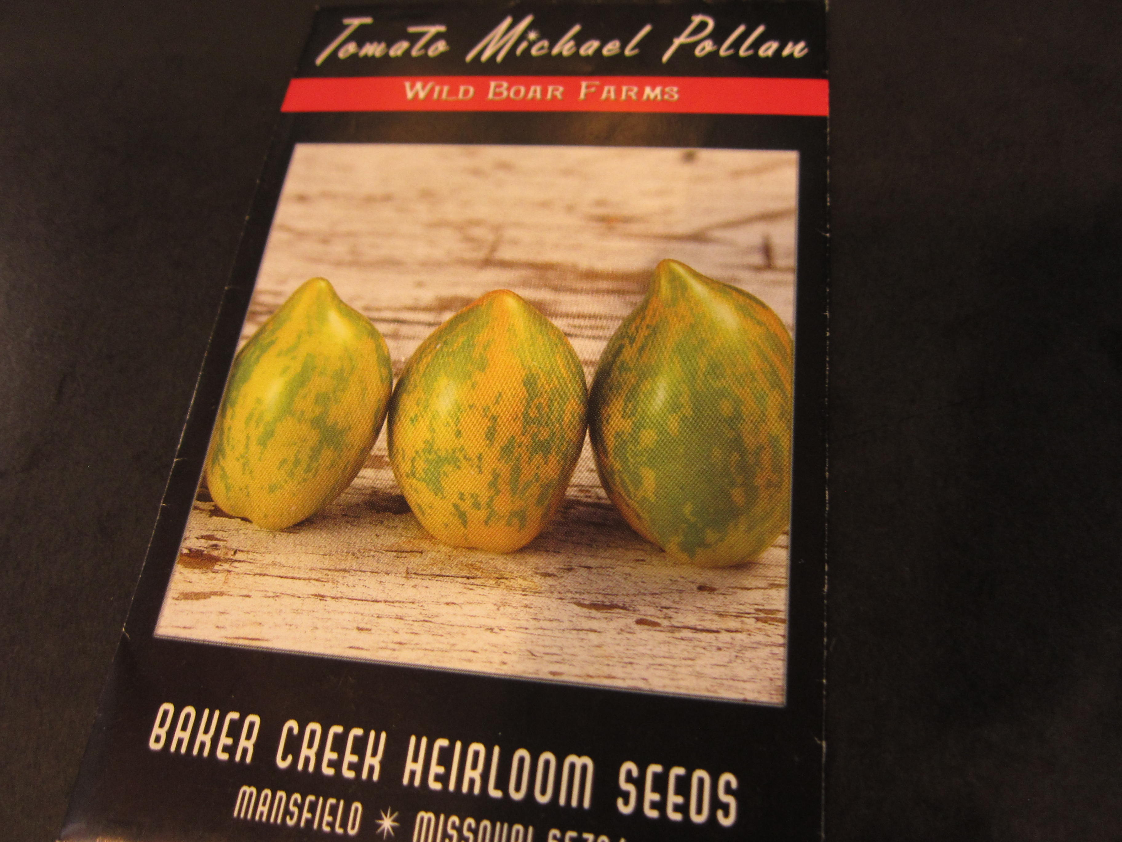 Michael Pollan has inspired this tomato bred by Wild Boar Farms.
