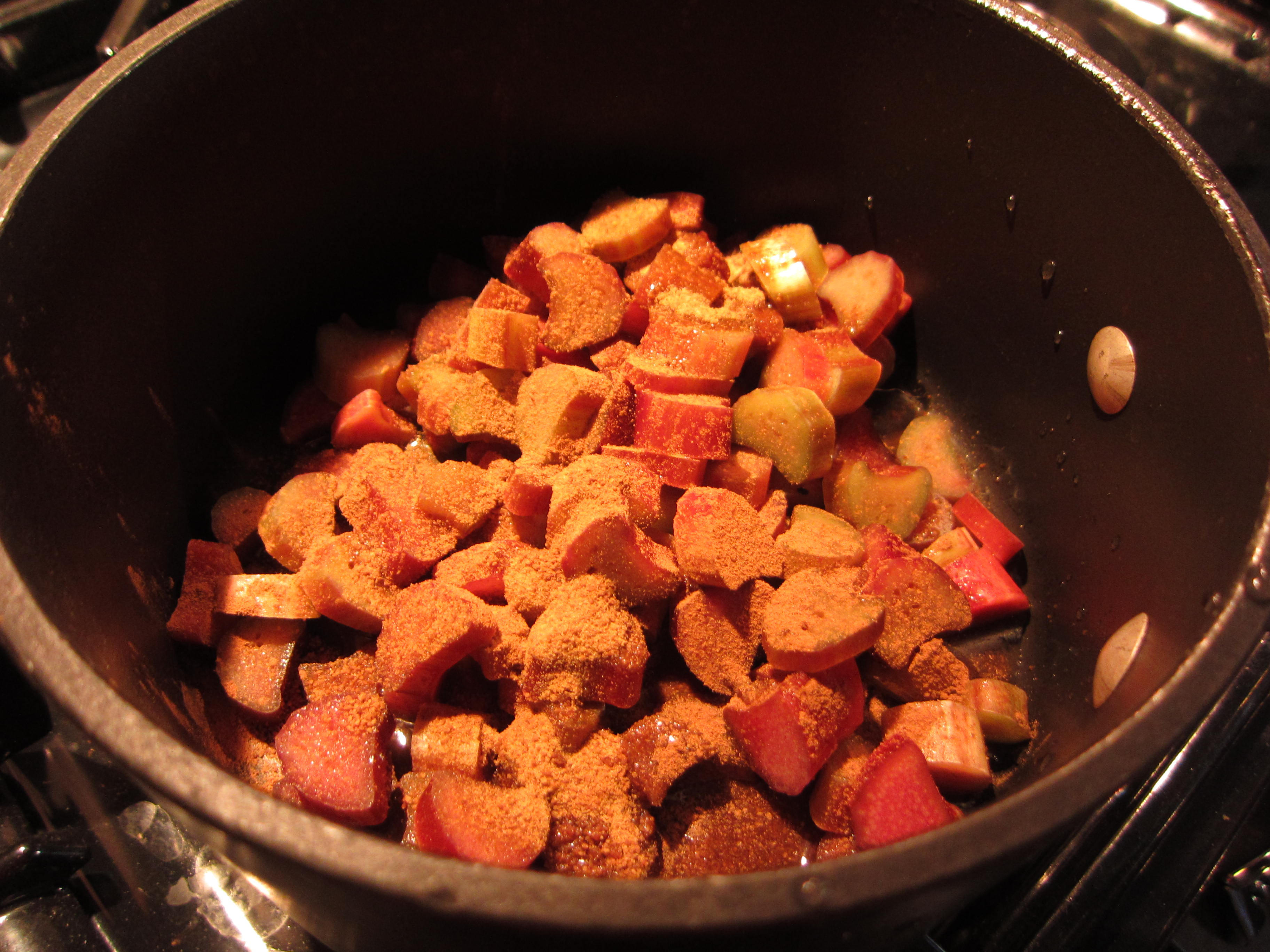 Put all ingredients in a saucepan over medium to low heat.