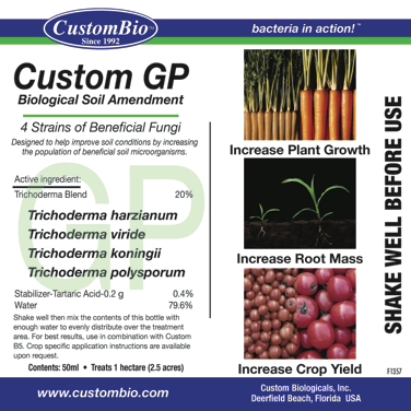 Get beneficial fungi into your soil to protect plants and increase production.