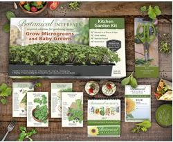Botanical Interests' Kitchen Garden Gift Set has everything you need to sprout micro-greens in your kitchen.